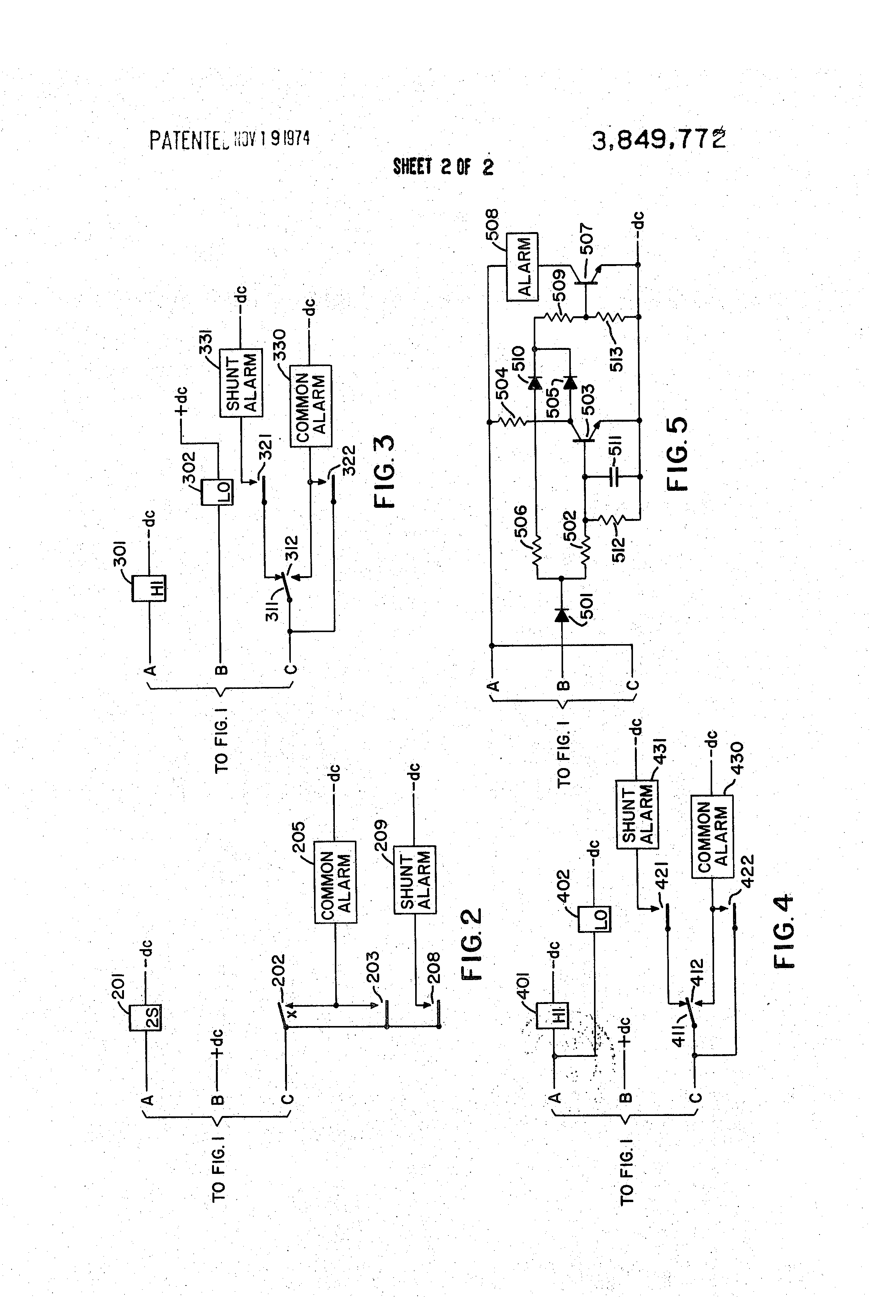 patent us3849772 - circuit integrity checking means for audio signal circuit