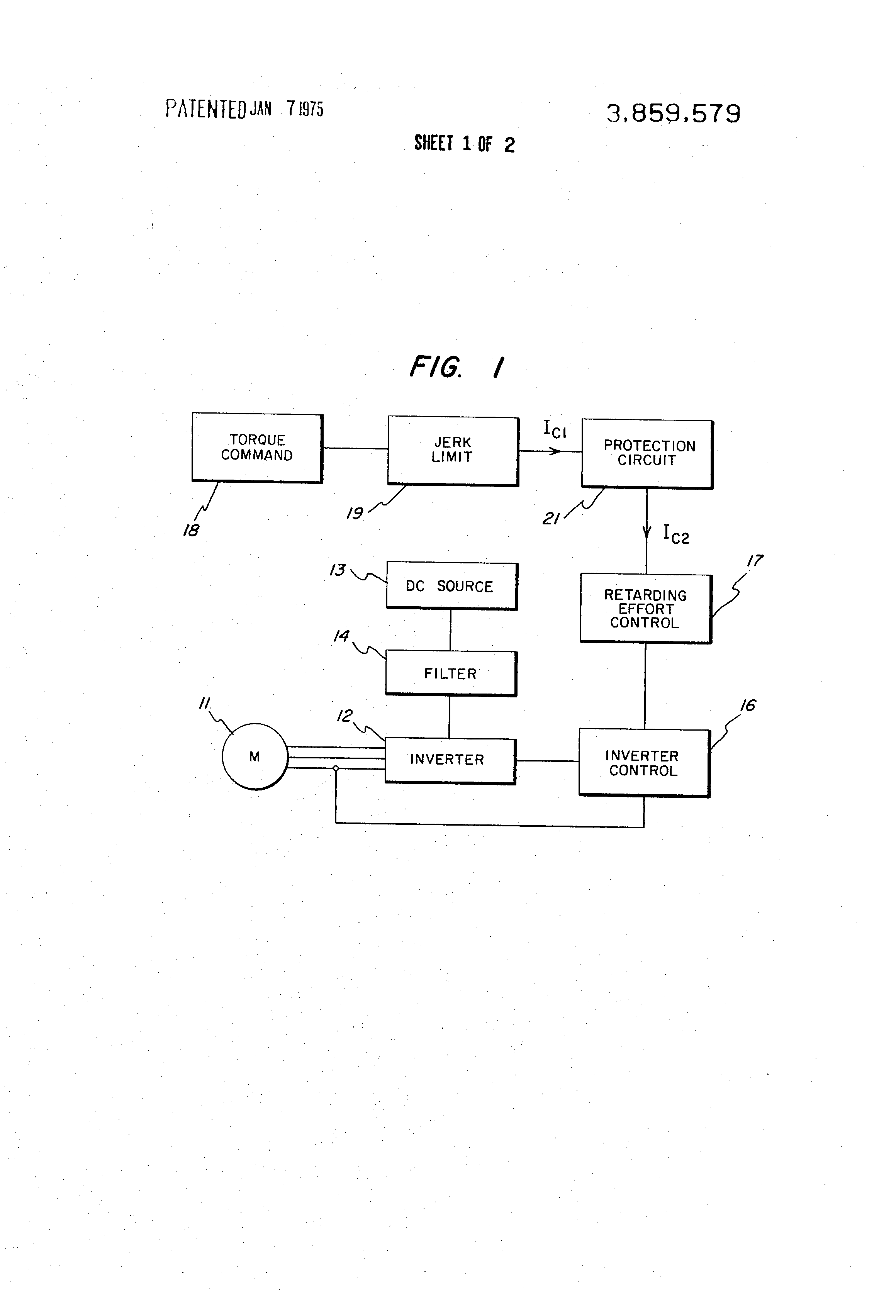 Patent Us3859579 Protection Circuit For Power Converter Systems Dc Circuits Drawing