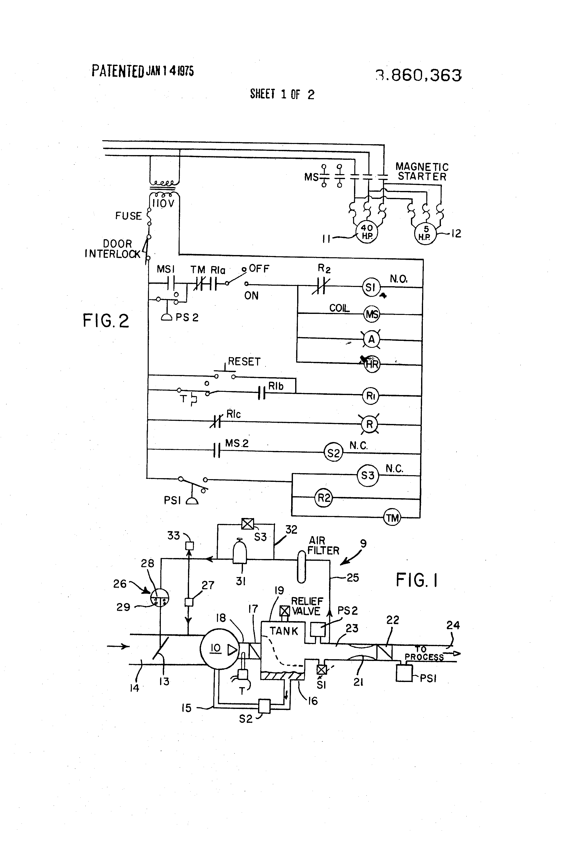 Patent Us3860363 - Rotary Compressor Having Improved Control System