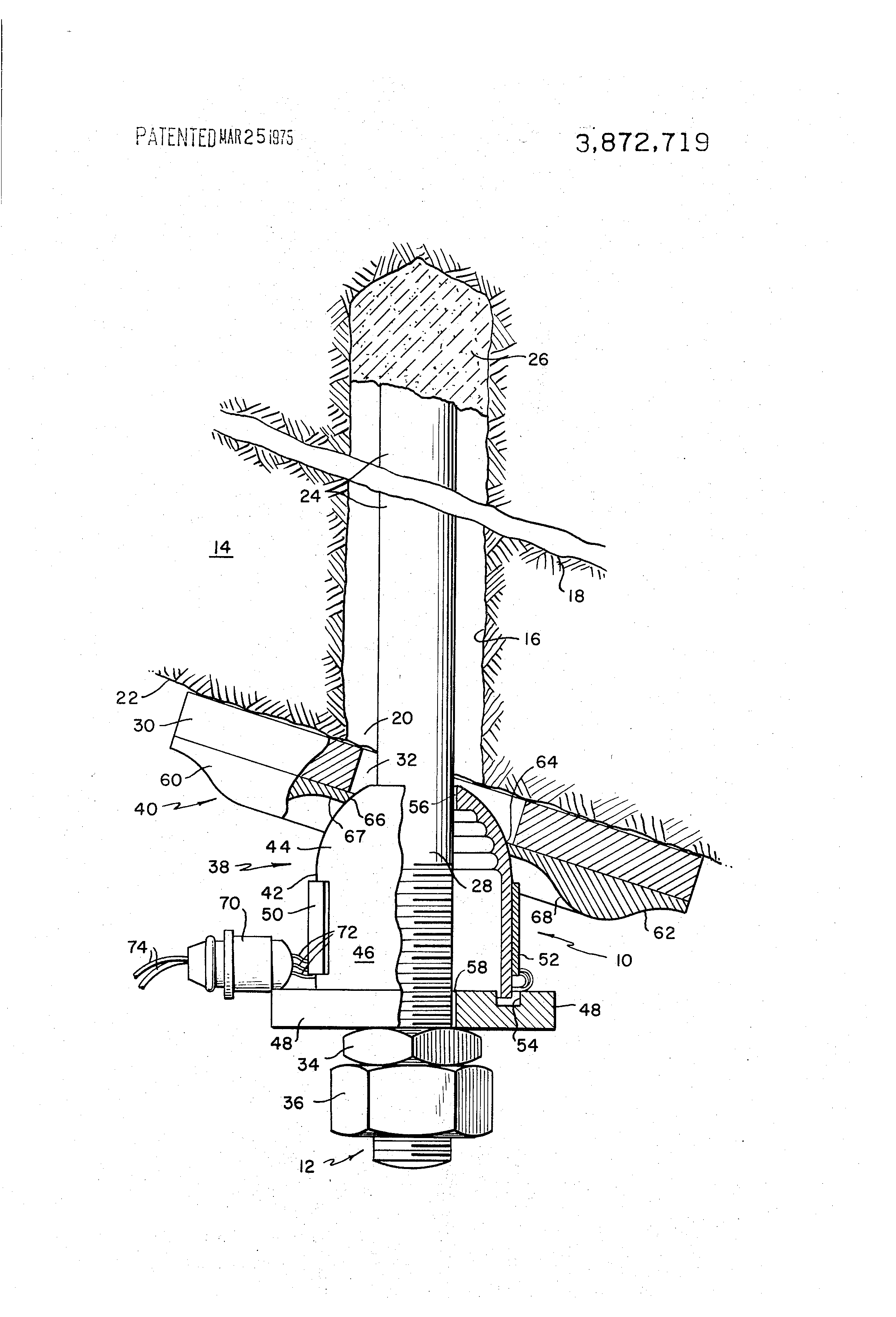 Brevet Us3872719 Rock Bolt Tension Load Cell Google Brevets Chevy Equinox Engine Diagram Patent Drawing