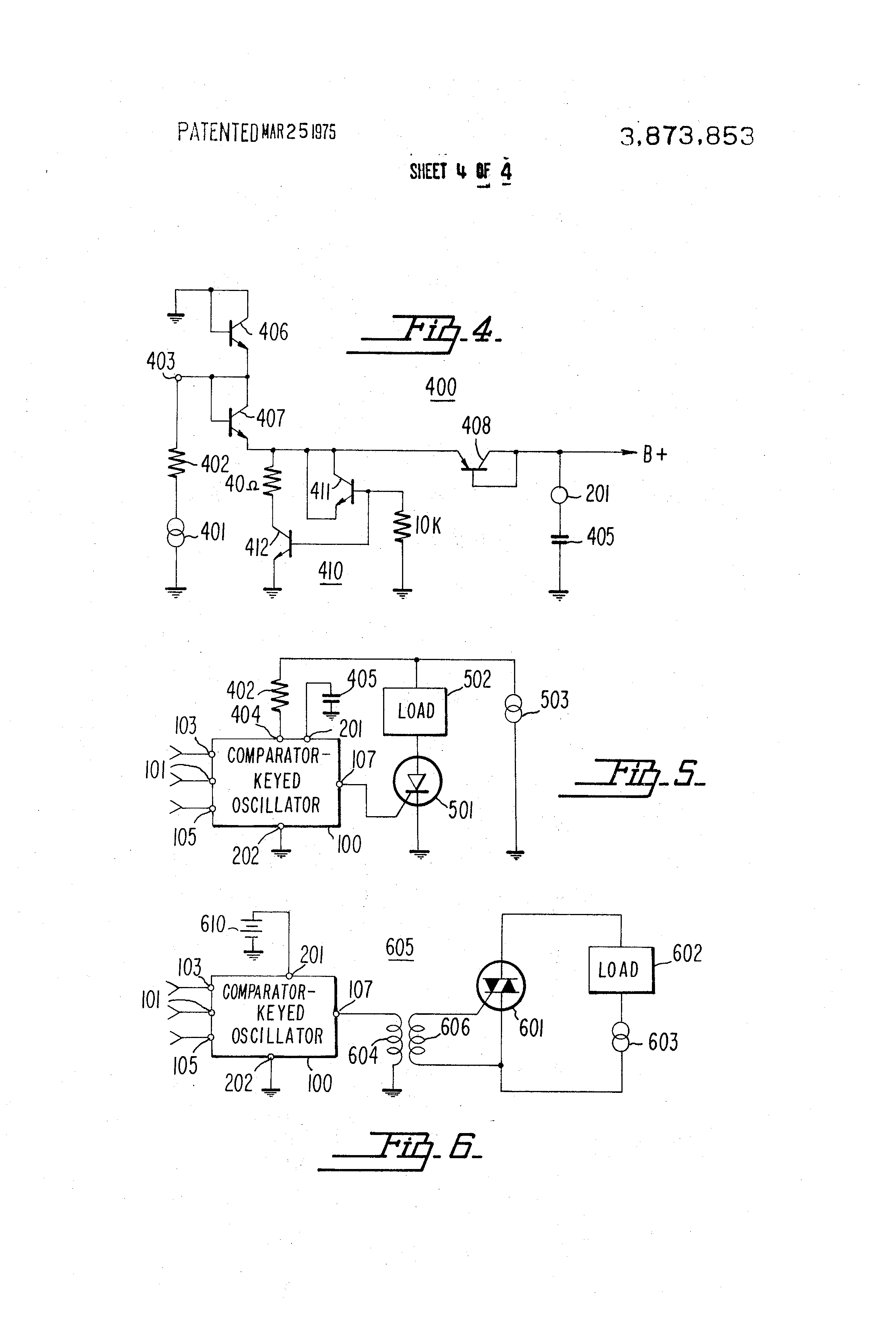 Patent Us3873853 Comparator Keyed Oscillator Google Patentsuche Pujt Voltage Power On Delay Circuits Drawing