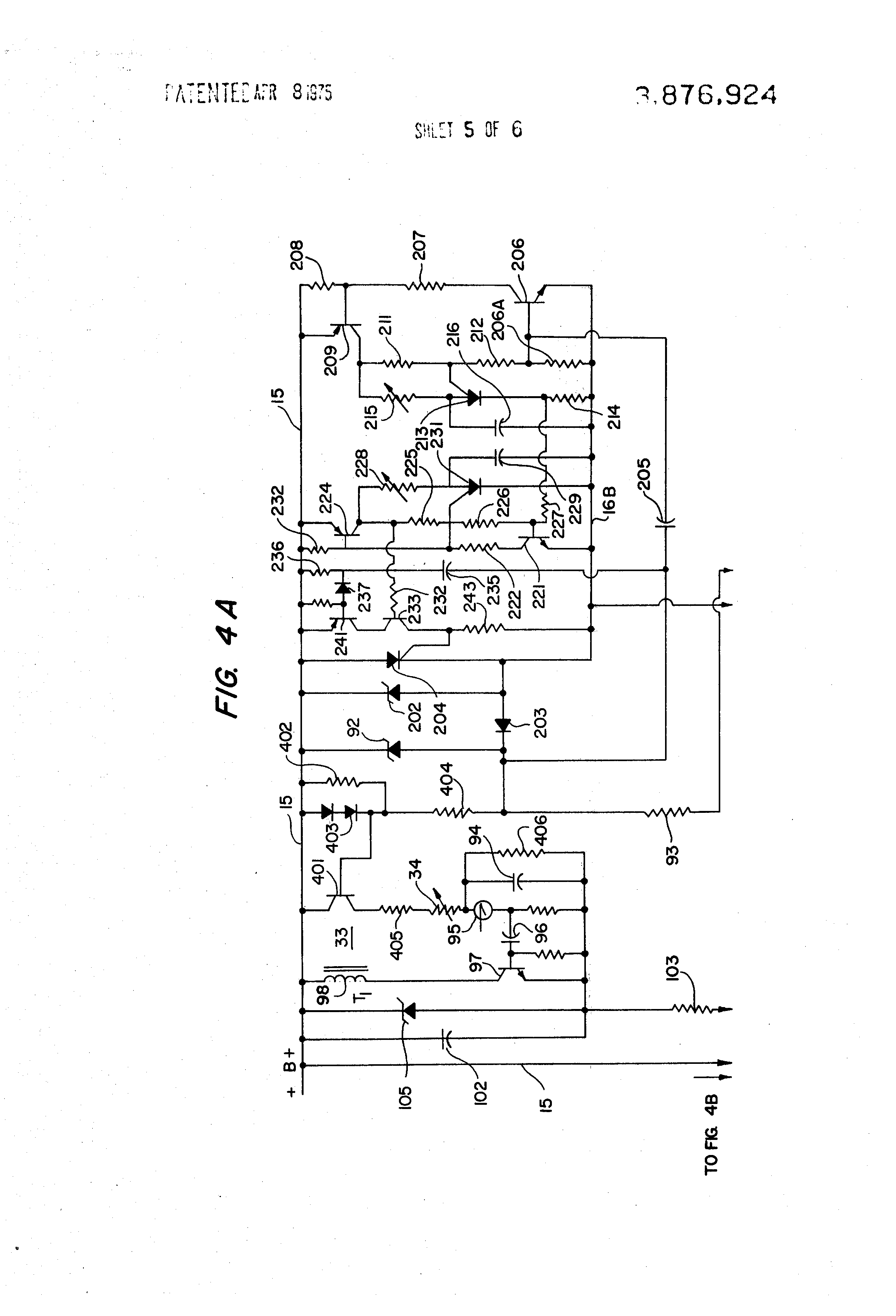 Patent Us3876924 Improved Gating Circuit For Thyristor Power Scr High Alarm Driver Design Drawing