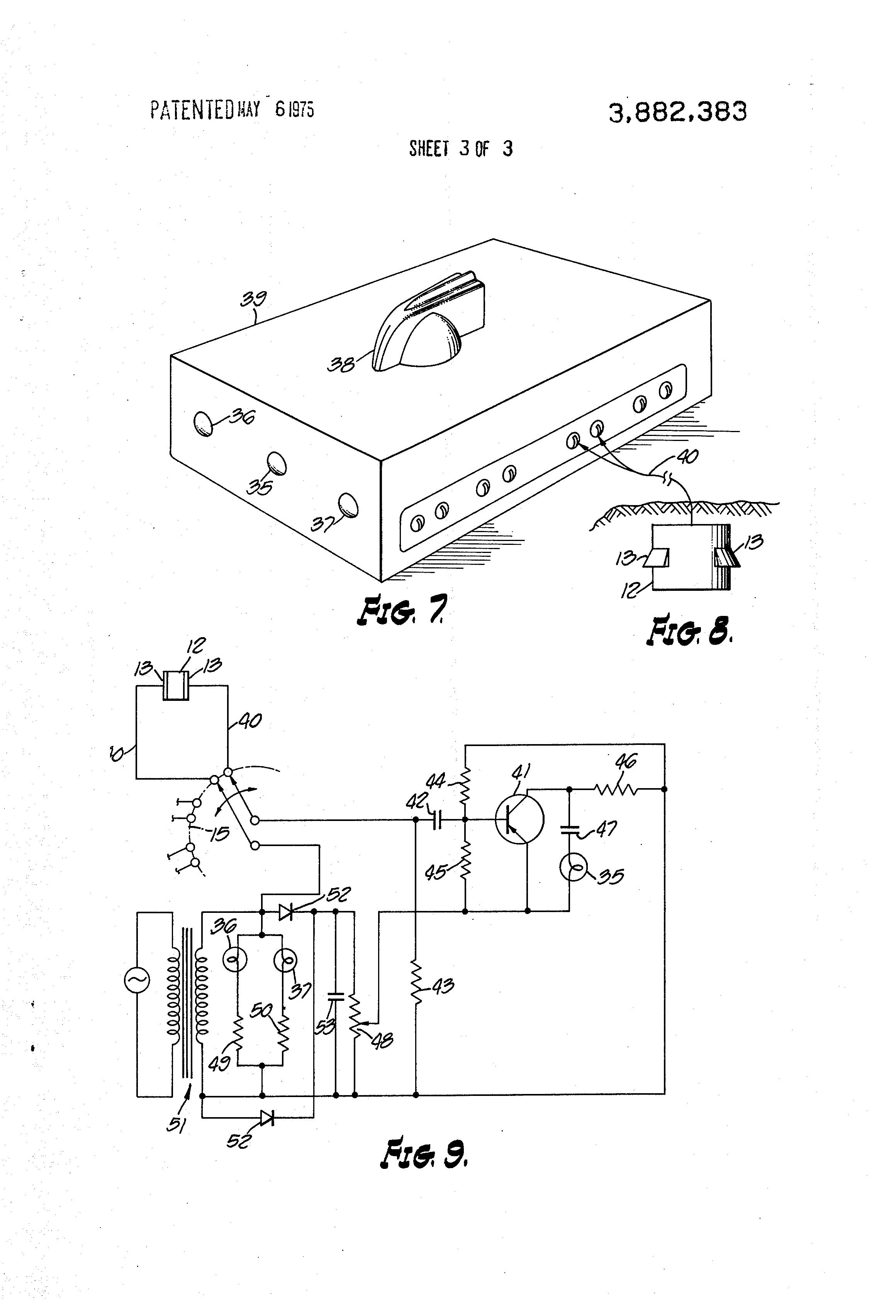 patent us3882383 - soil moisture sensing system