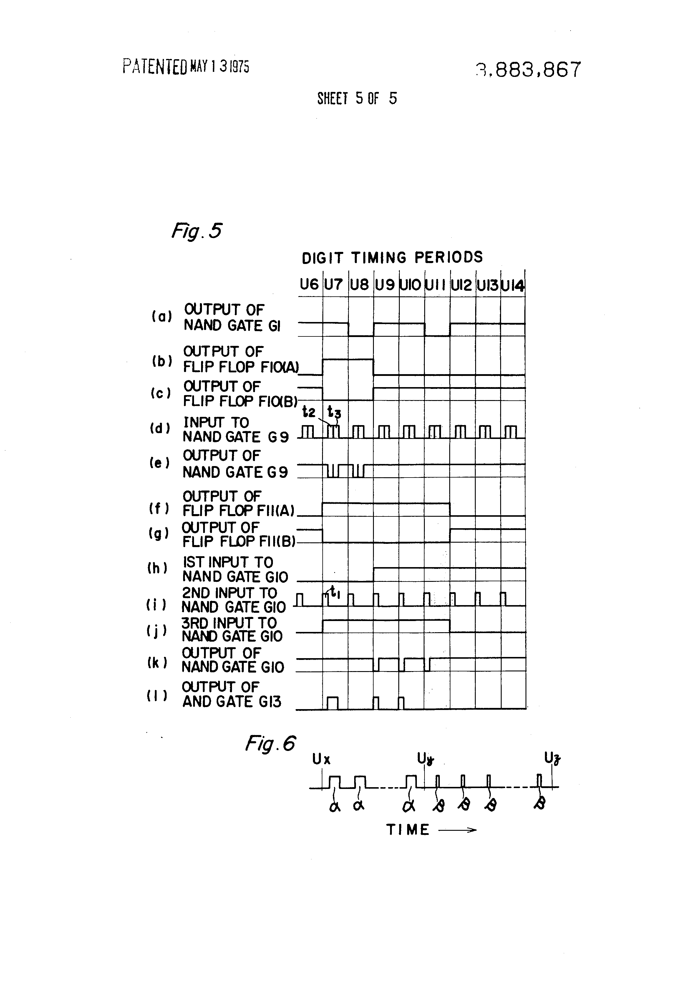 Patente Us3883867 Information Input Device Google Patentes And Gate Full Adder Logic Diagram Moreover Nand Circuit Patent Drawing