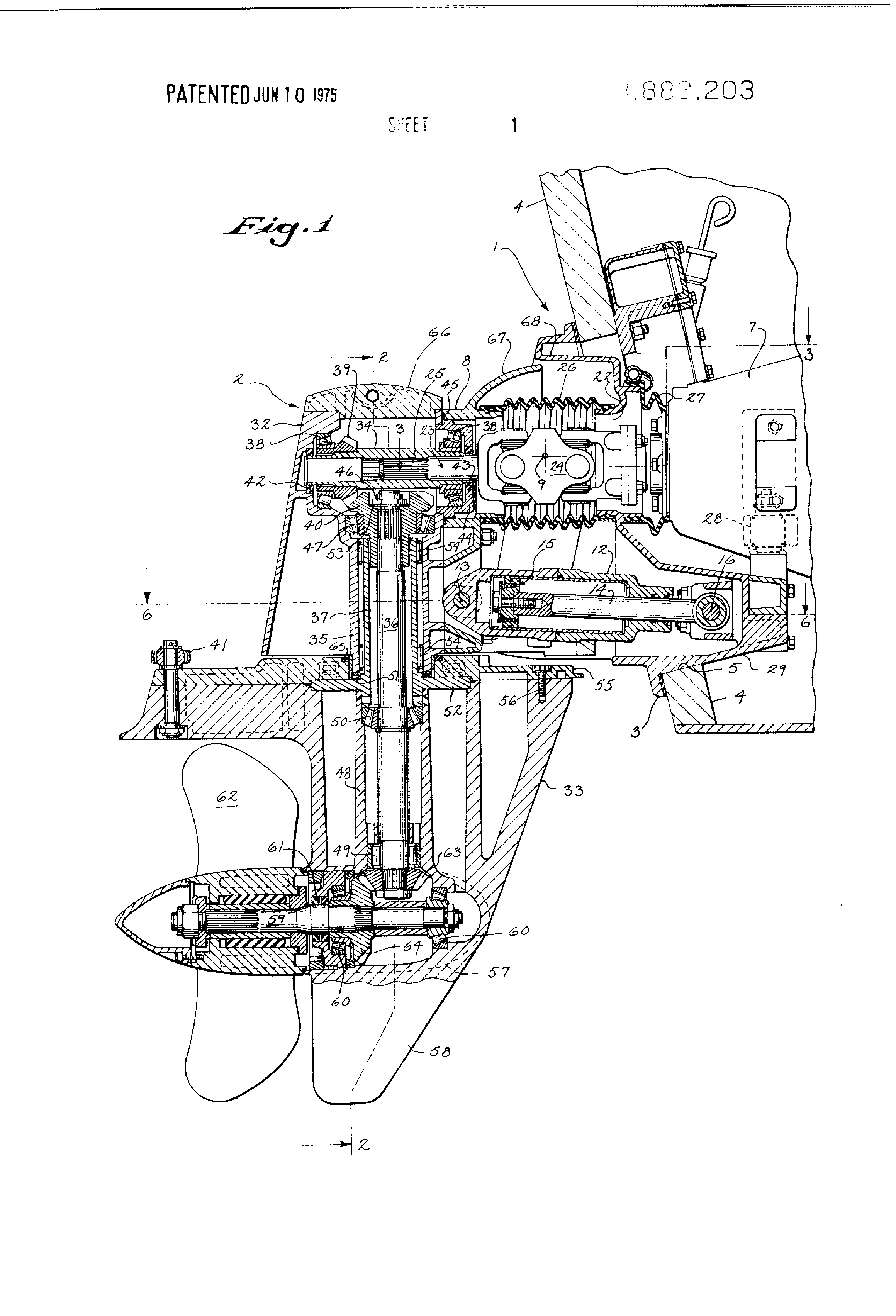 patent us3888203 - stern drive for boats