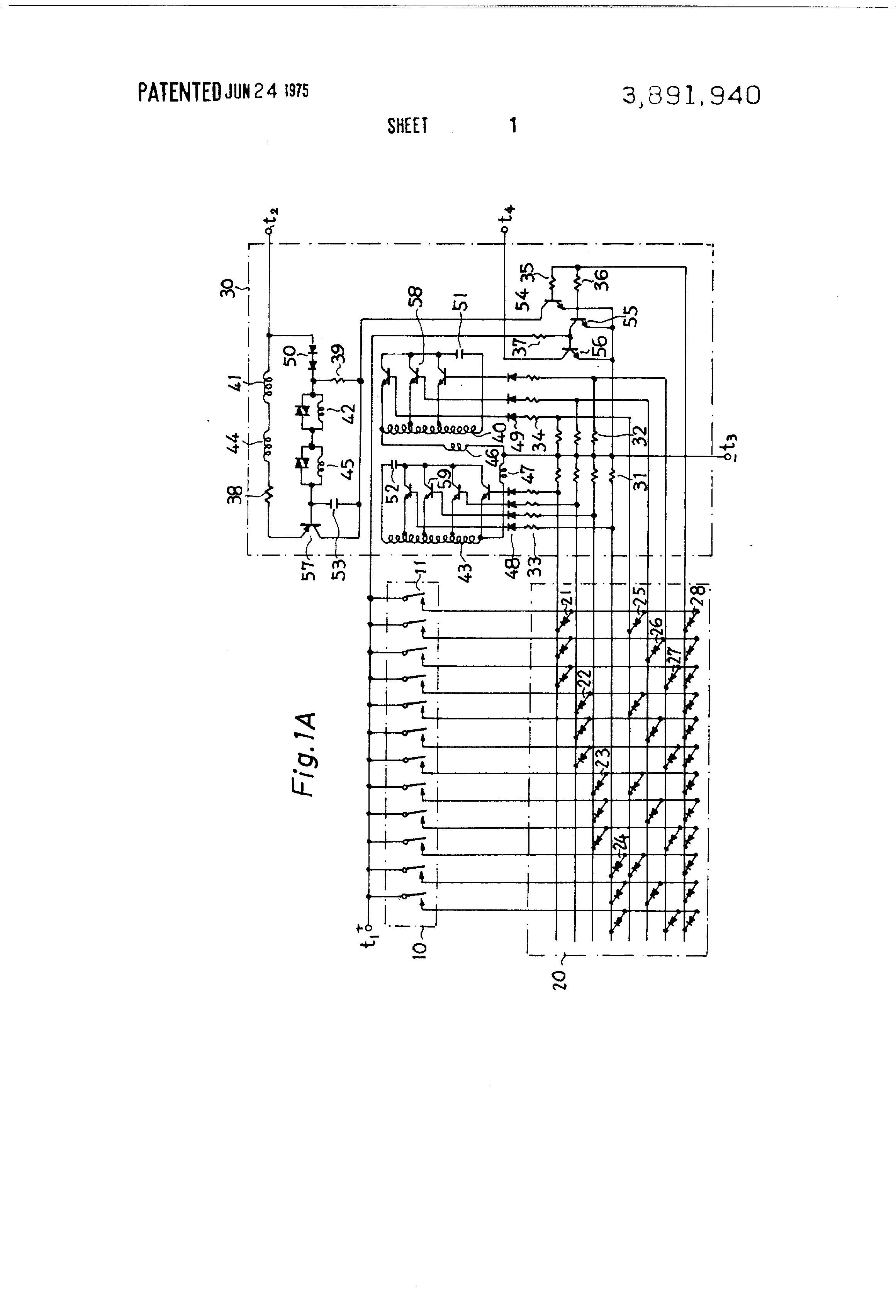 Brevet Us3891940 Two Tone Generator Using Transistors For Circuit Diagram Patent Drawing