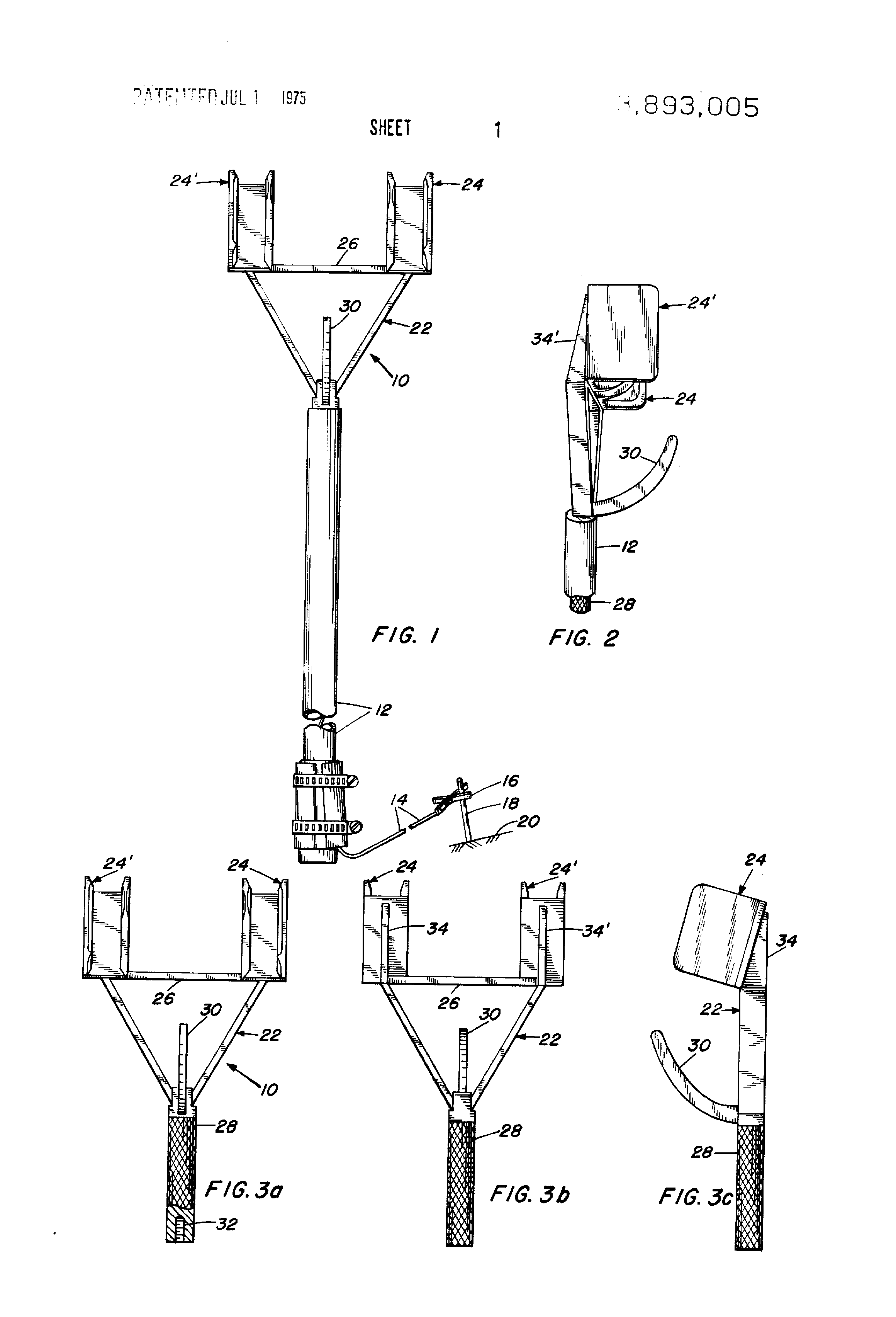 patent us3893005 - helicopter hook-up and static electricity grounding device
