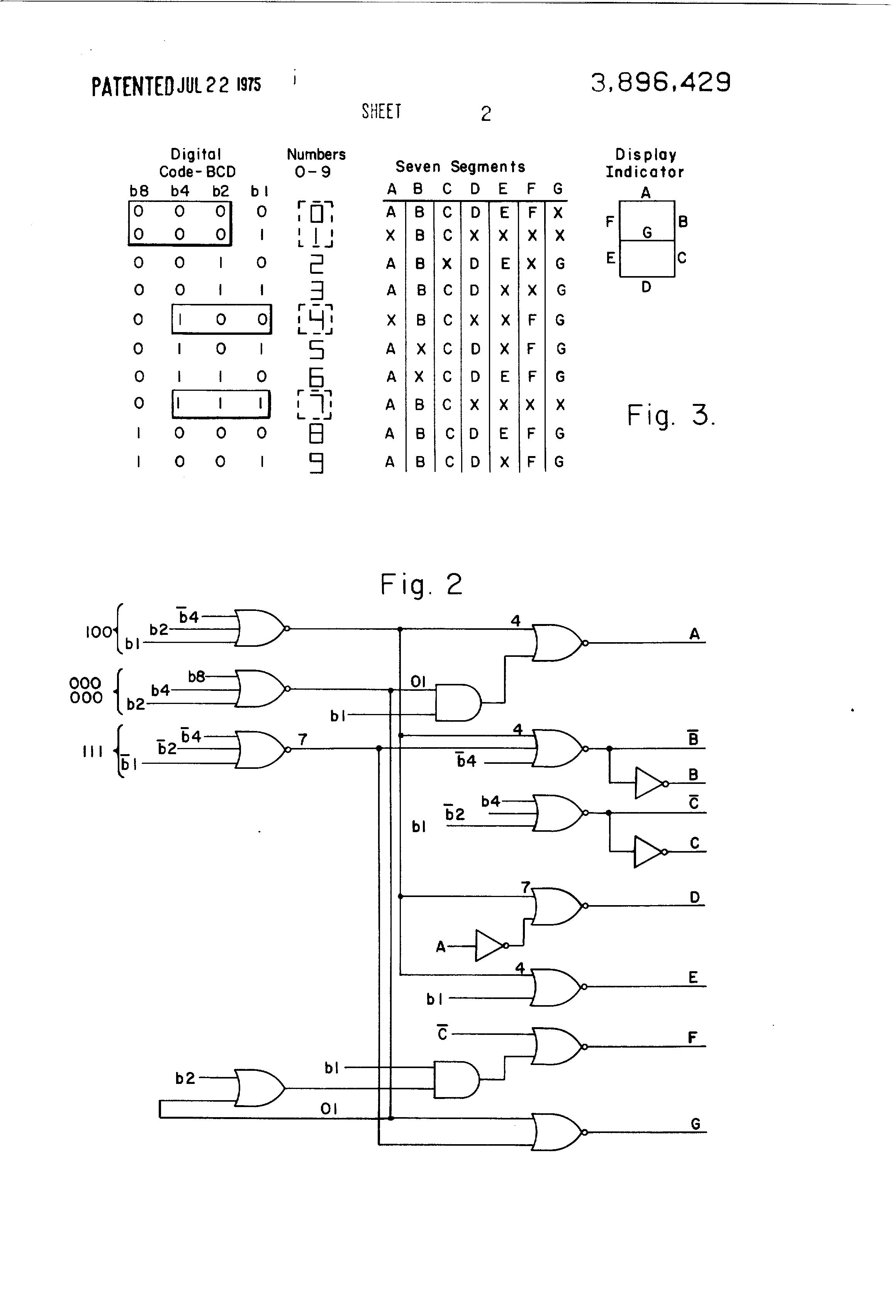 Patent Us3896429 Segment Decoder For Numeric Display Google Patents