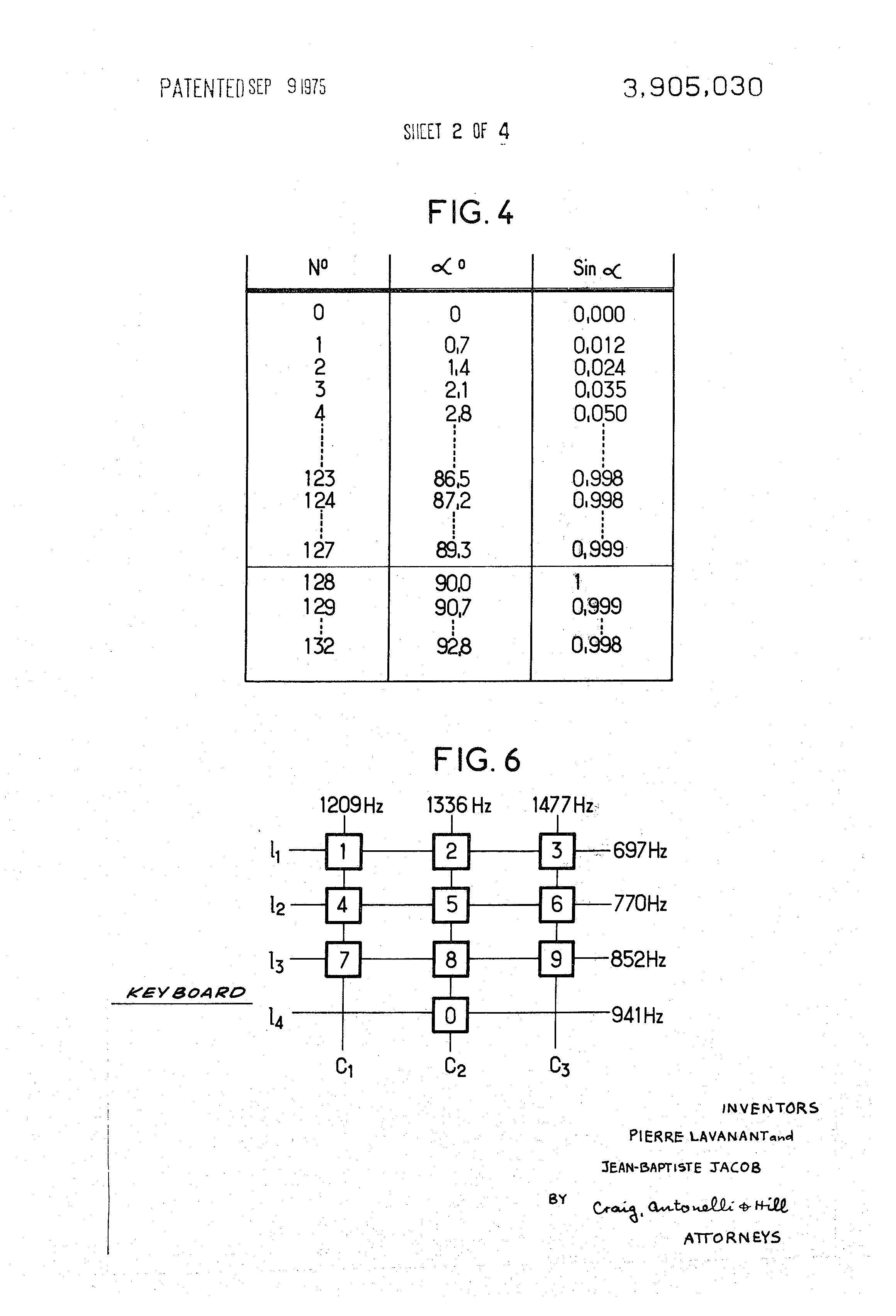 Patent Us3905030 Digital Source Of Periodic Signals Google Patents Multitone Generator Door Bell Circuit Drawing