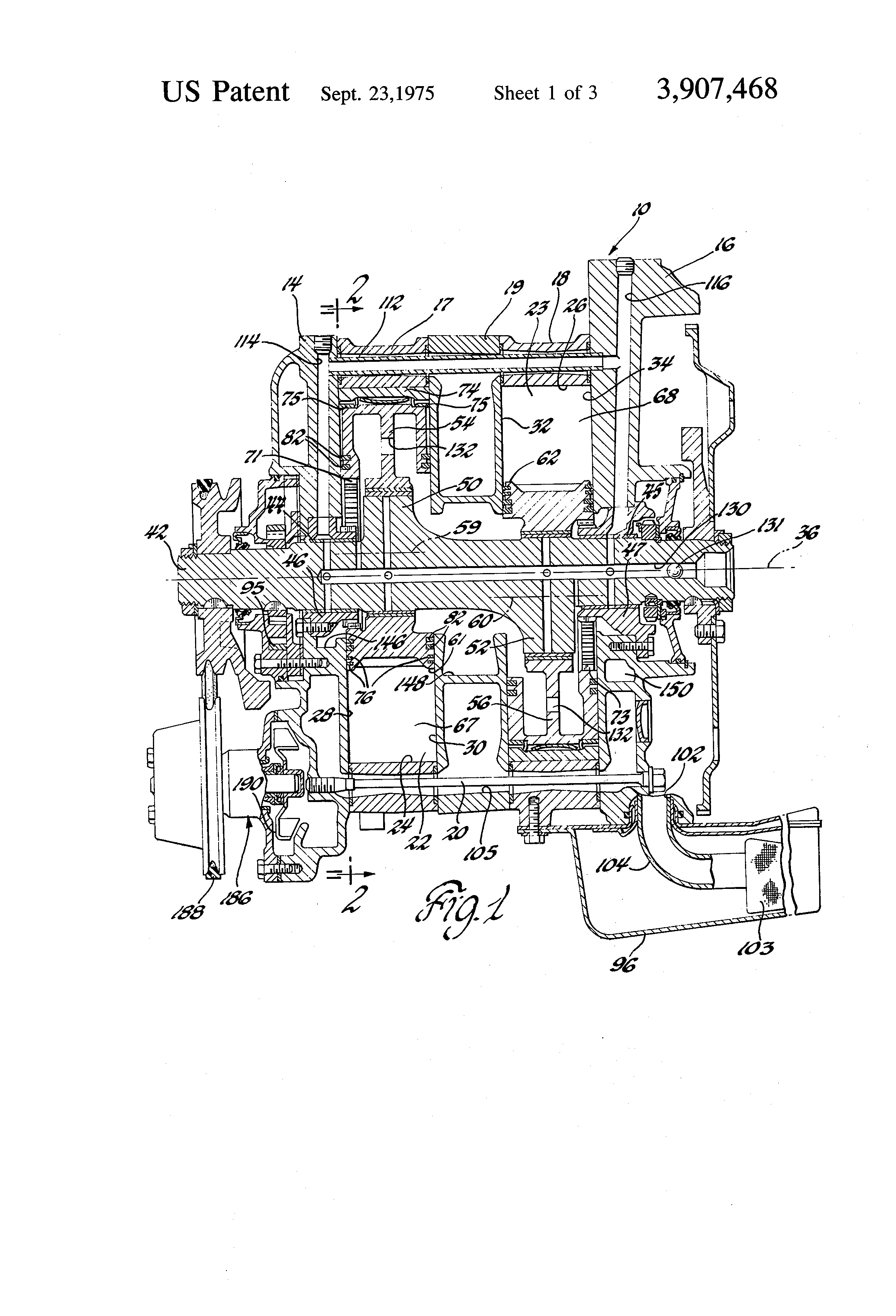 patent us3907468 - rotary engine cooling system