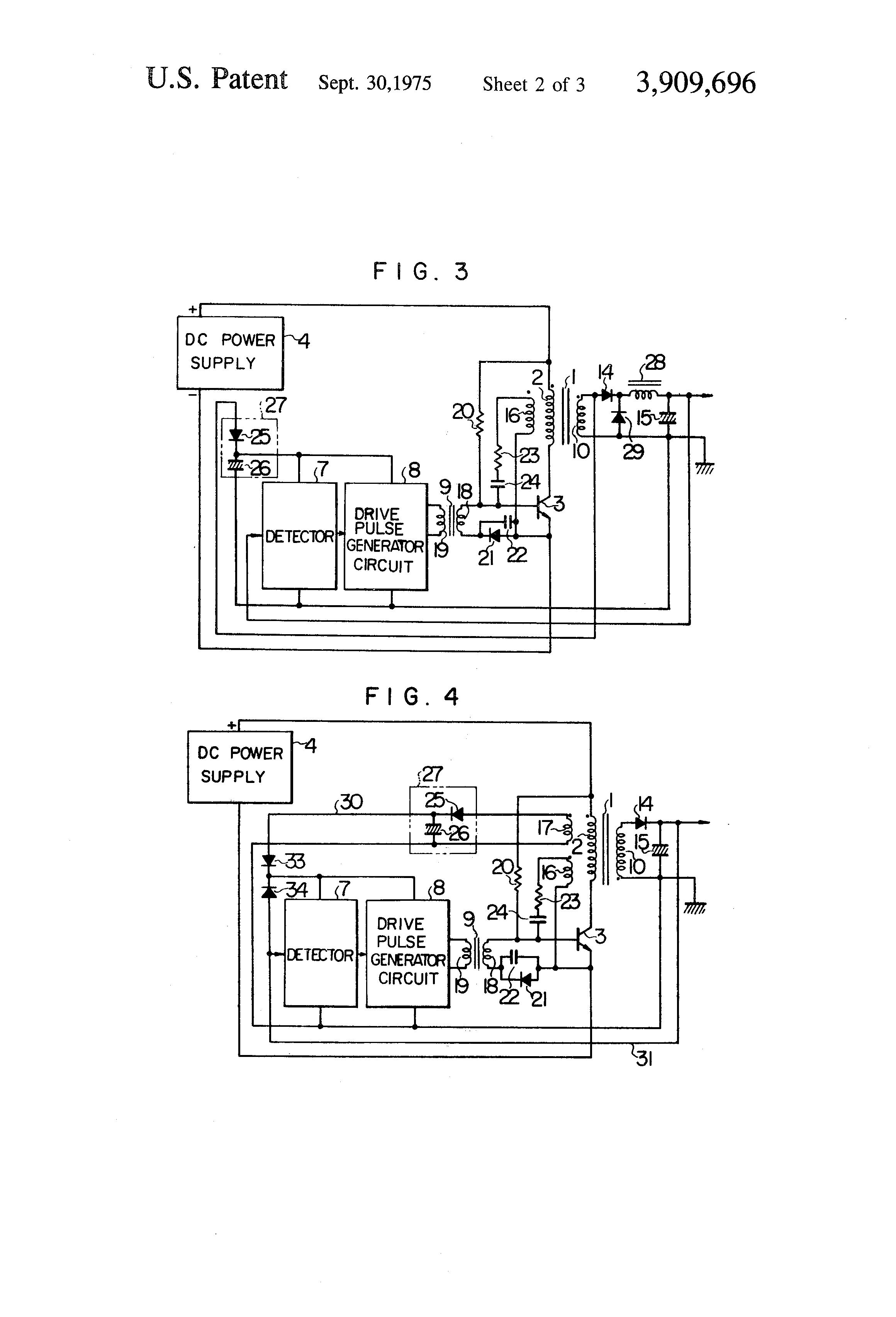 Patent Us3909696 Dc Converter Google Patents Power Pulse Generator Circuit Diagram Drawing
