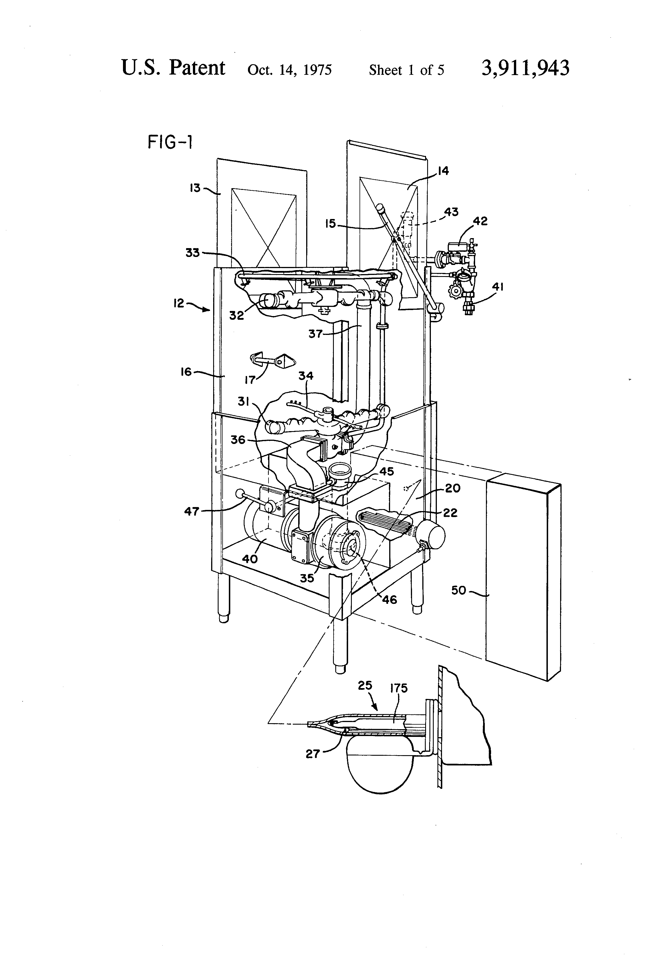 patent us3911943 - control circuit for dishwasher