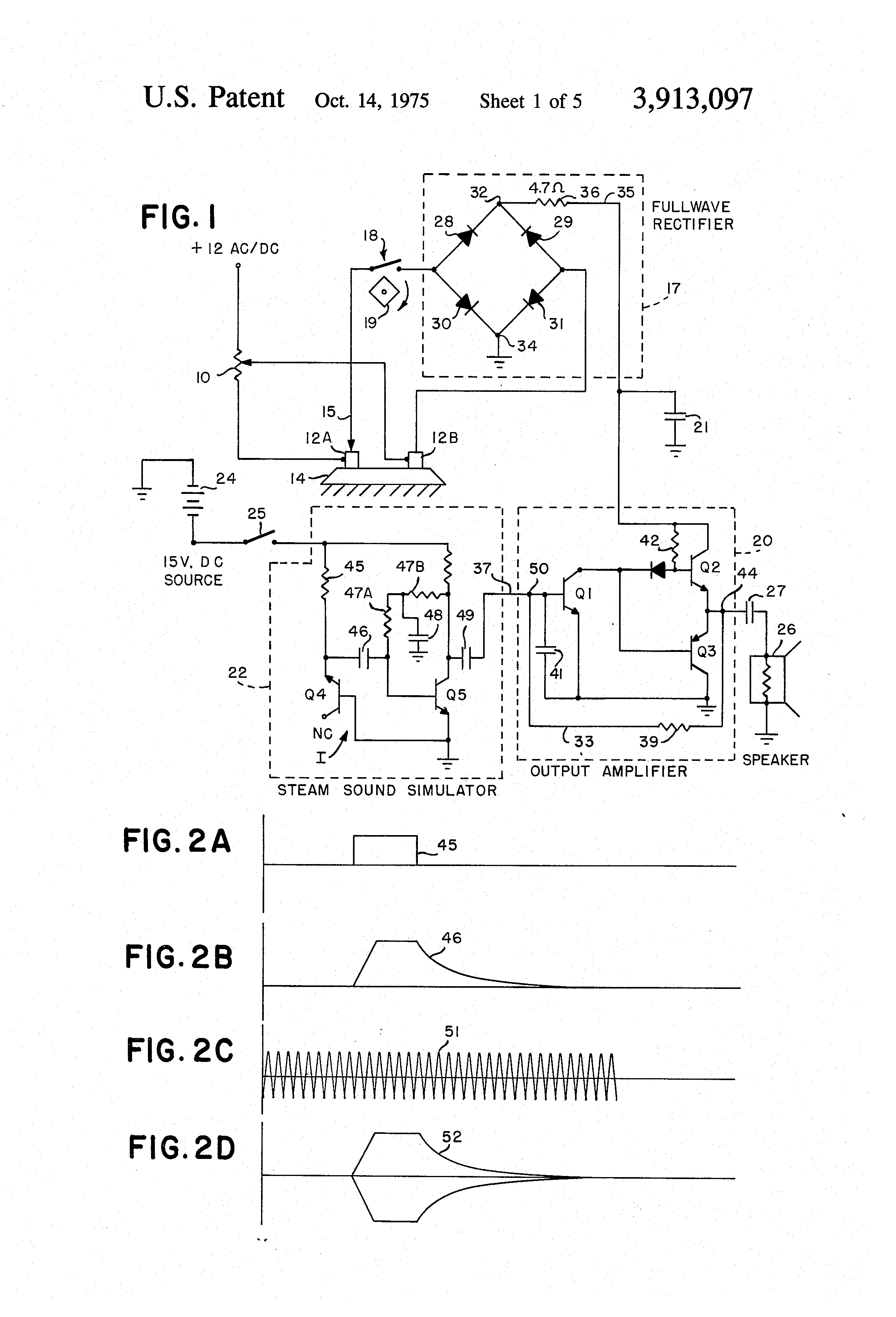 Patent Us3913097 Sound Simulator For Model Steam Engine Google Diagram Of Drawing