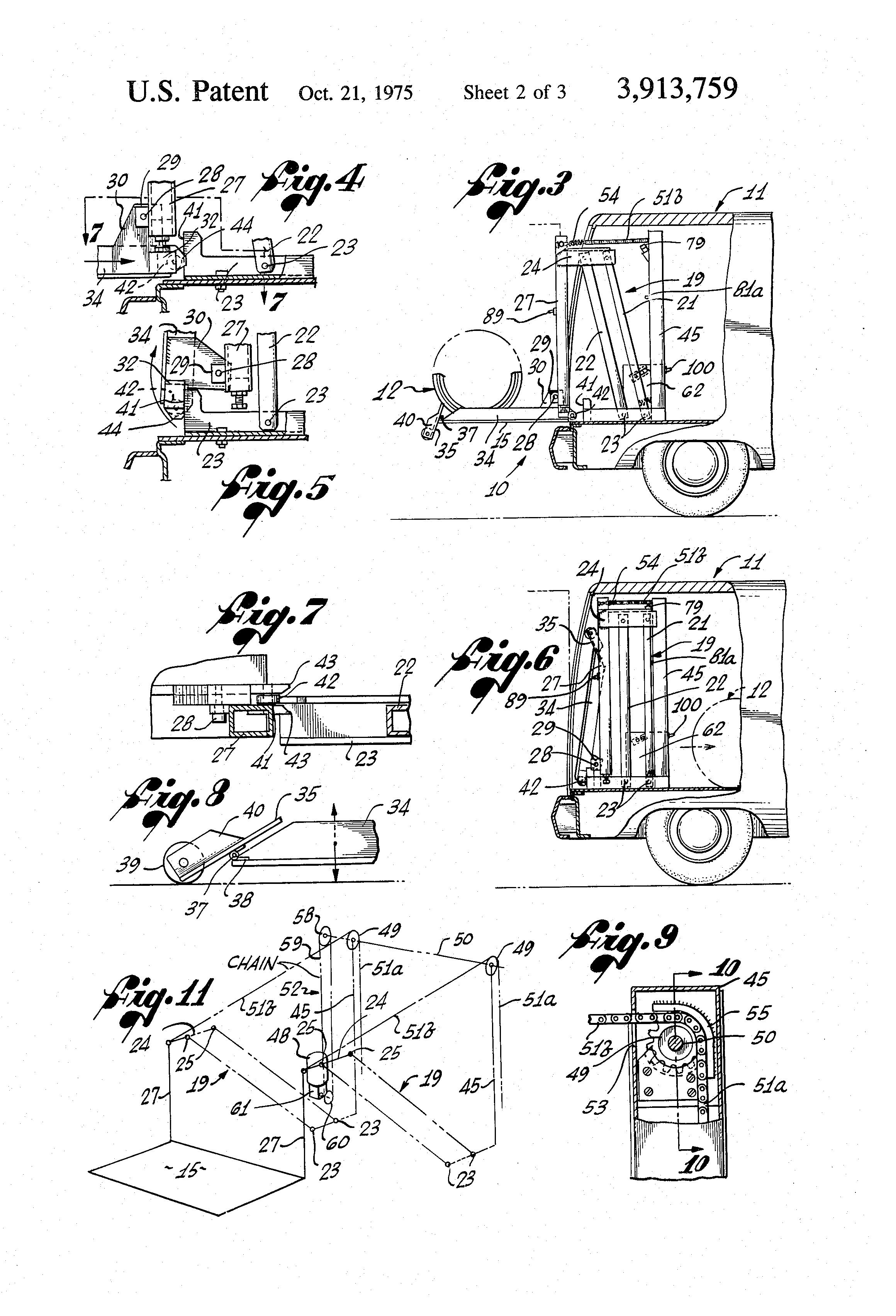 Patent Us3913759 - Wheelchair Lift
