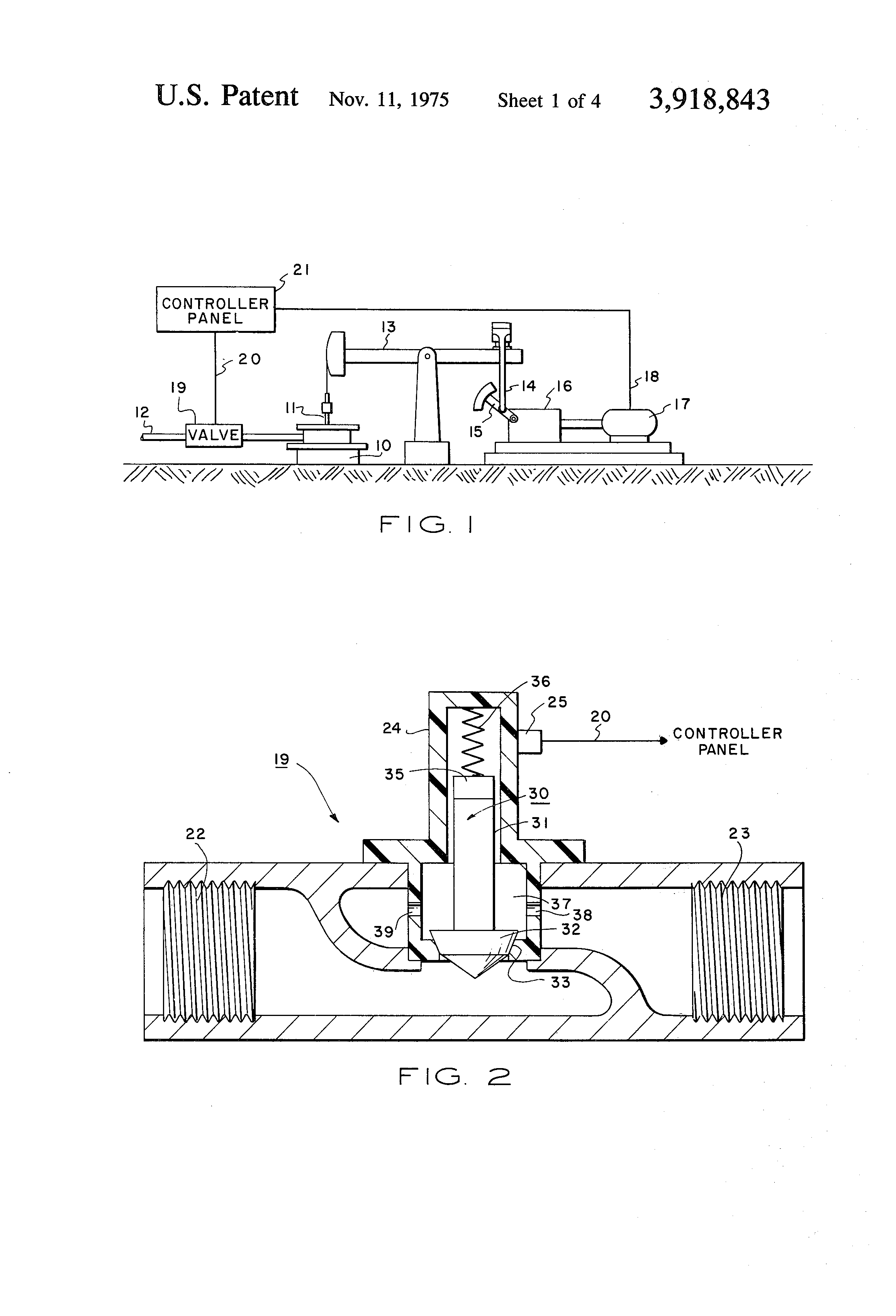 Patent Us3918843 Oil Well Pumpoff Control System Utilizing Reed Switch Wiring With Relays Moreover Latching Relay Circuit Diagram Drawing