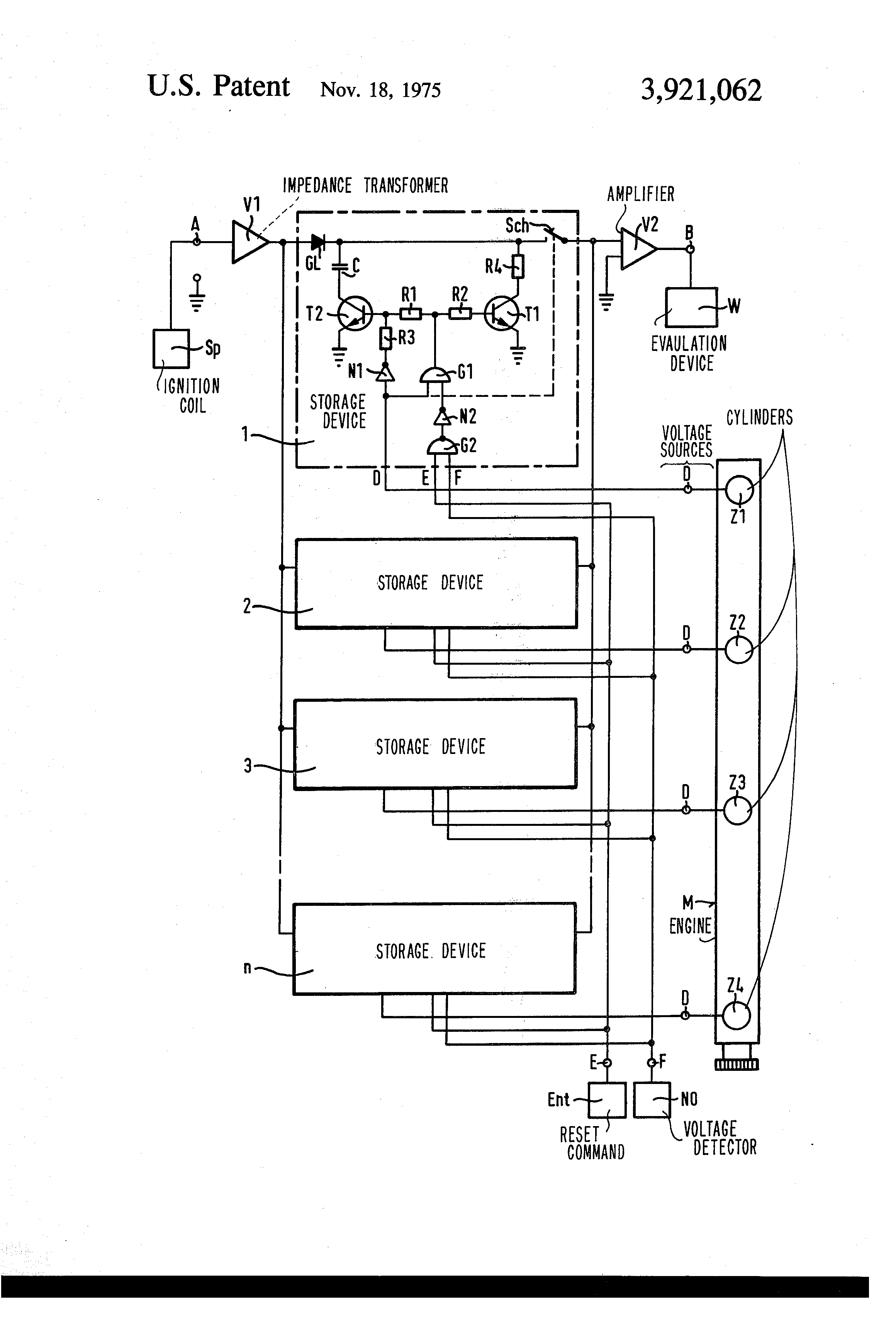 Patent Us3921062 Circuit For Measuring And Storing Peak Values Of Diagram Voltage Source Drawing