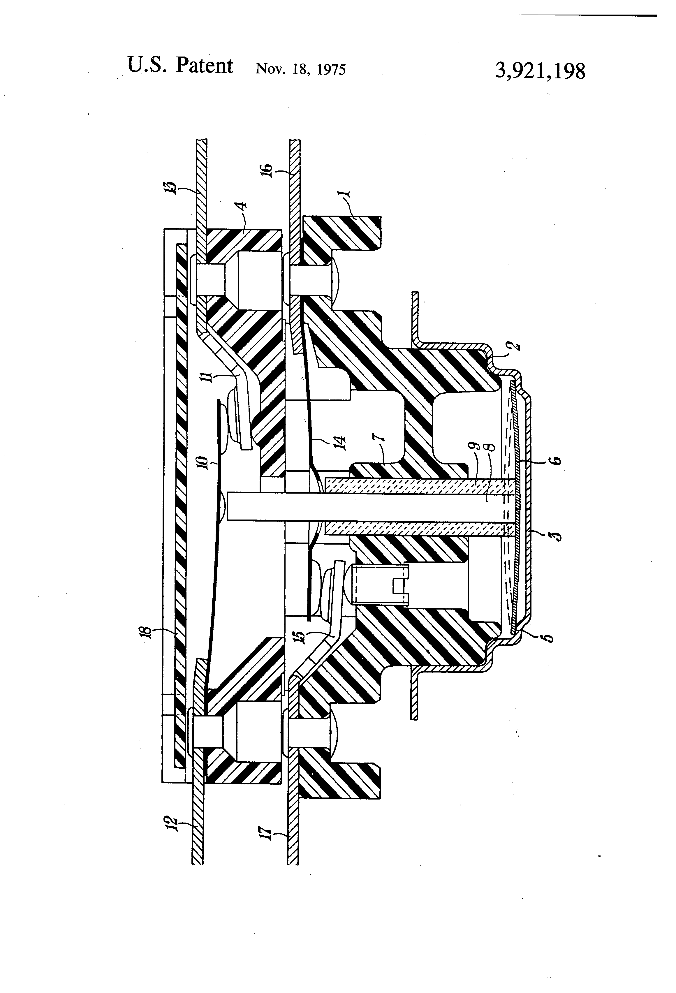 Patent US3921198 - Thermostatic two-pole switch - Google Patents