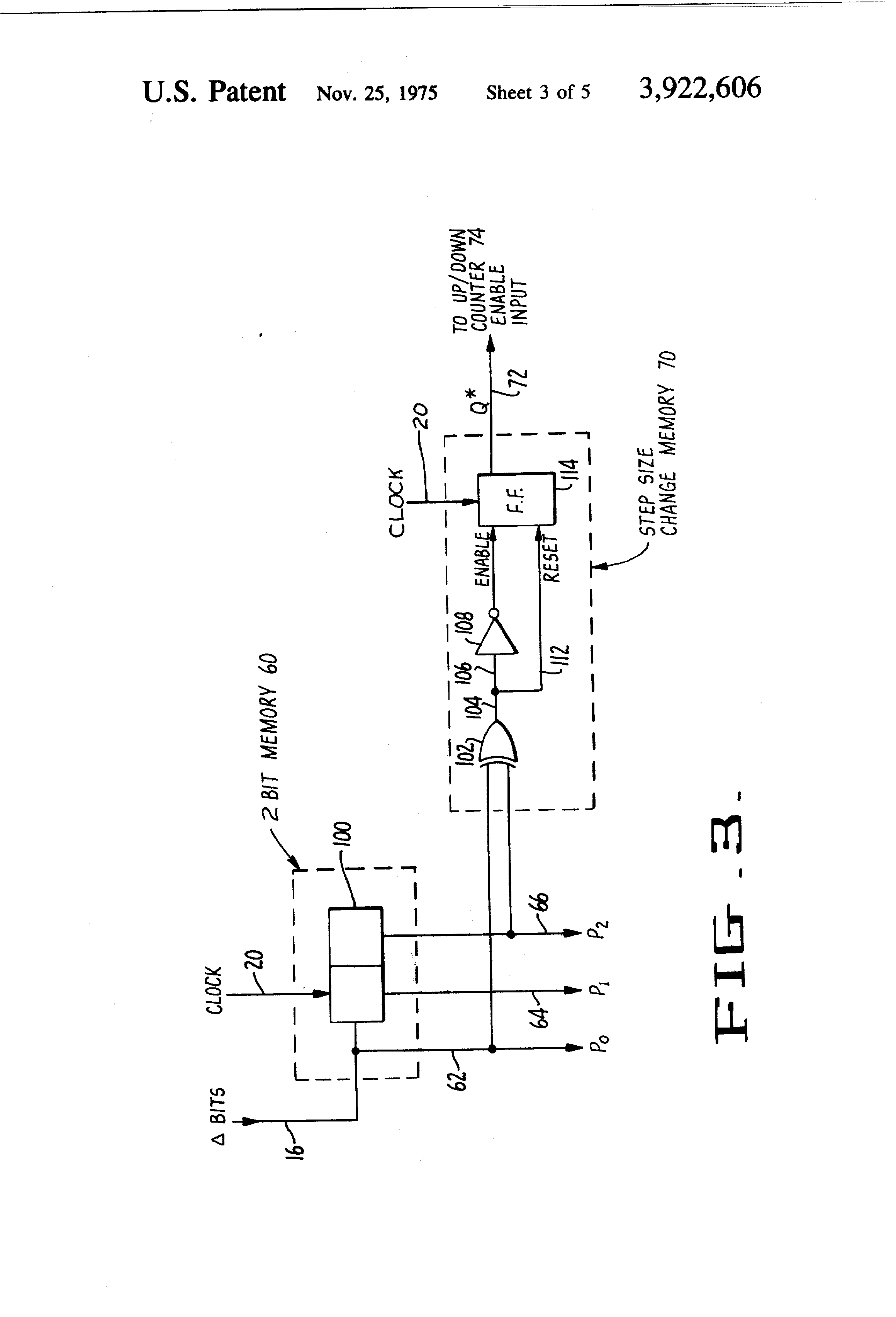 Patent Us3922606 Adaptive Delta Modulation Information 2 Bit Magnitude Comparator Logic Diagram Drawing