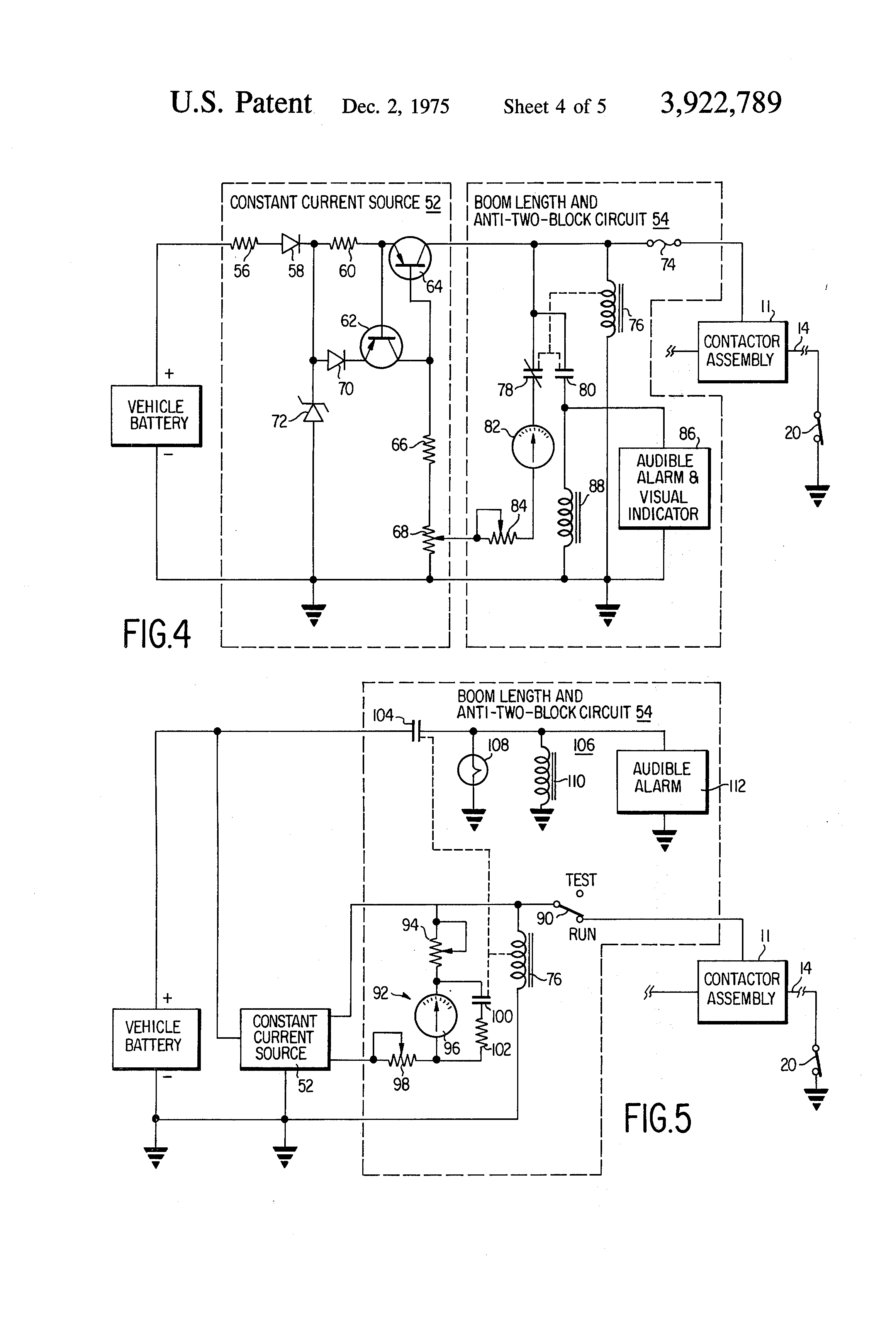 patent us3922789 boom length sensing system with two