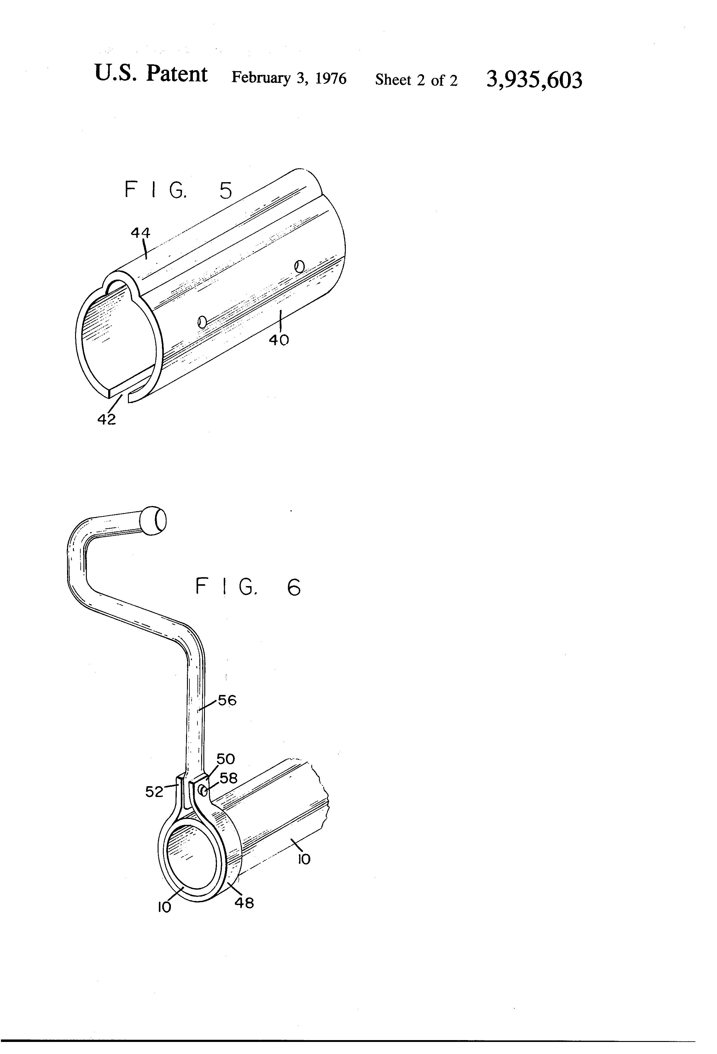 Baby crib mattress frame - Patent Drawing