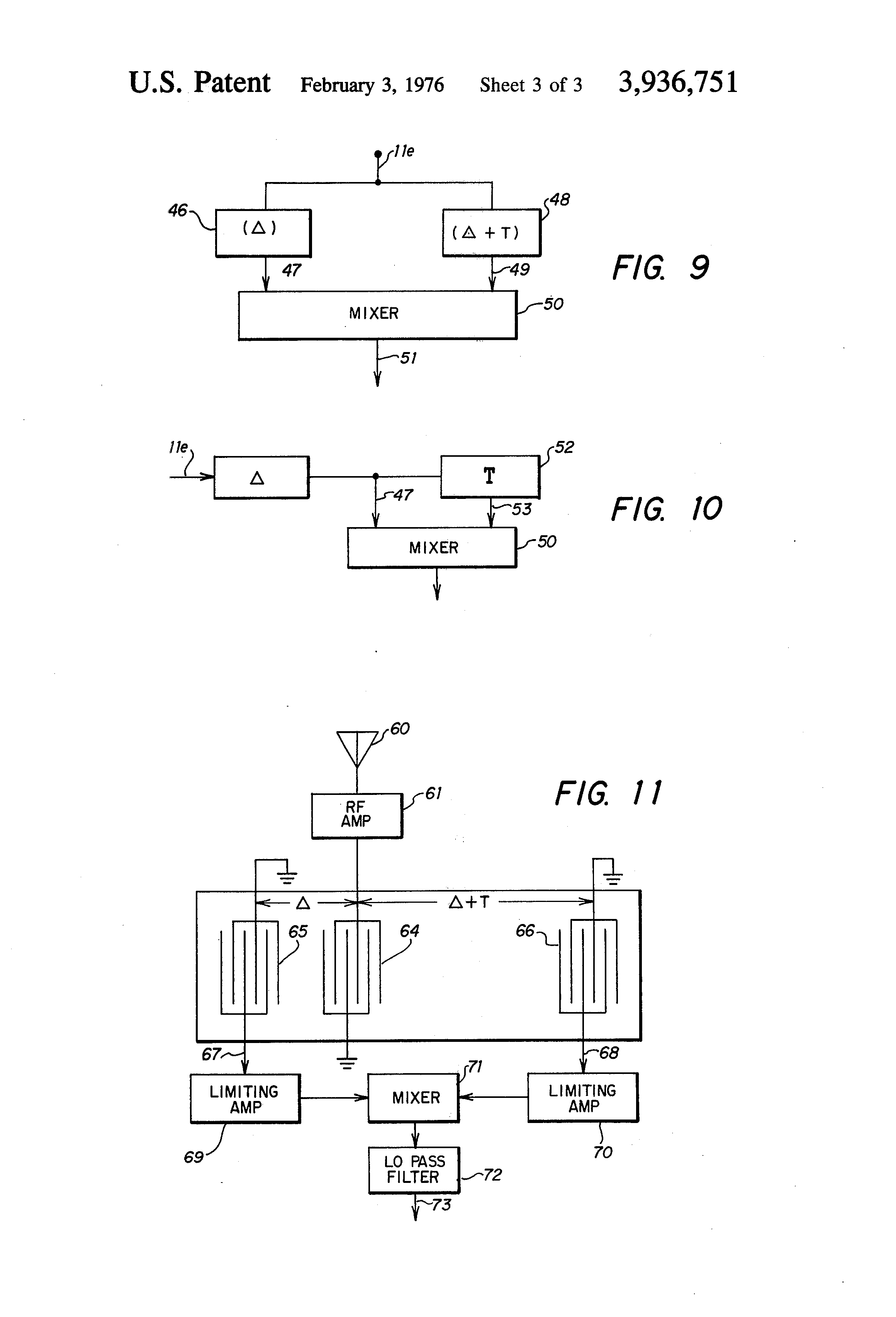 Patent Us3936751 Swd Fm Detector And If Filter Google Patents Tuned Radio Frequency Trf Receiver Circuit Diagram Drawing