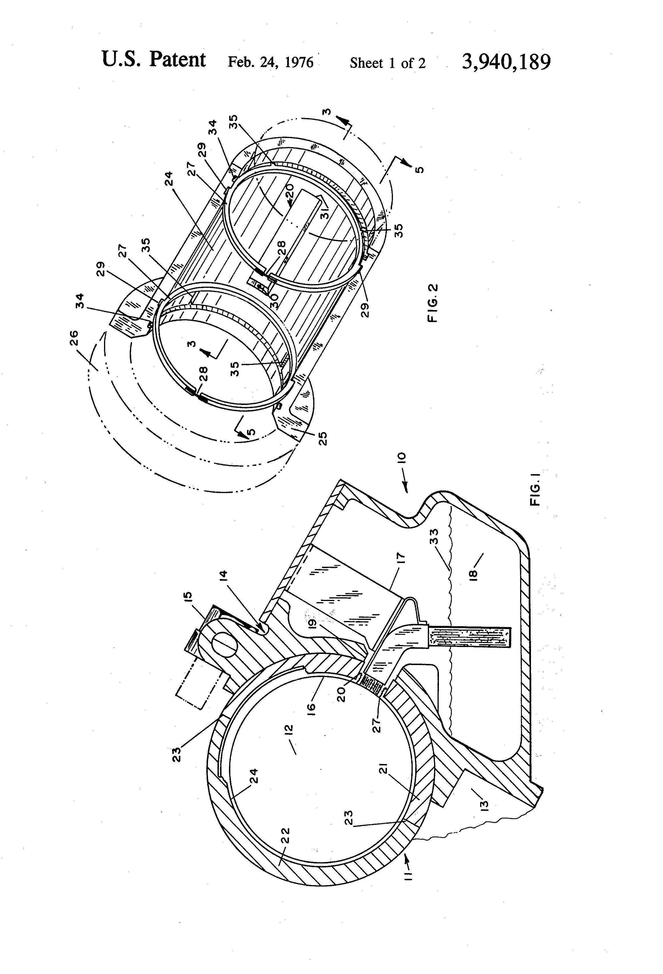 Patent us3940189 traction motor bearing lubrication for Electric motor sleeve bearing lubrication
