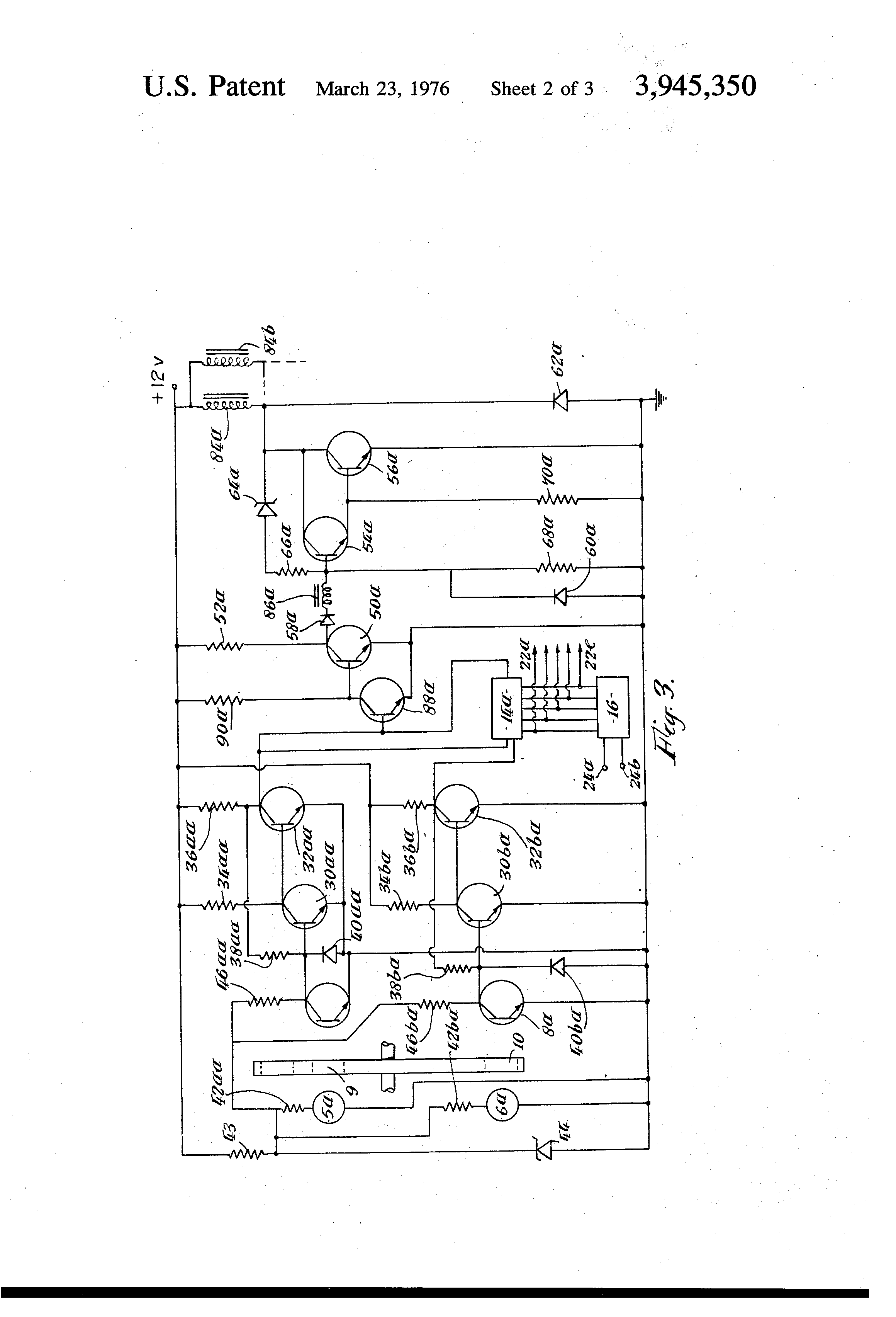 Patent Us3945350 Fuel Injection Systems For Internal Combustion Engine Diagram 350 Drawing