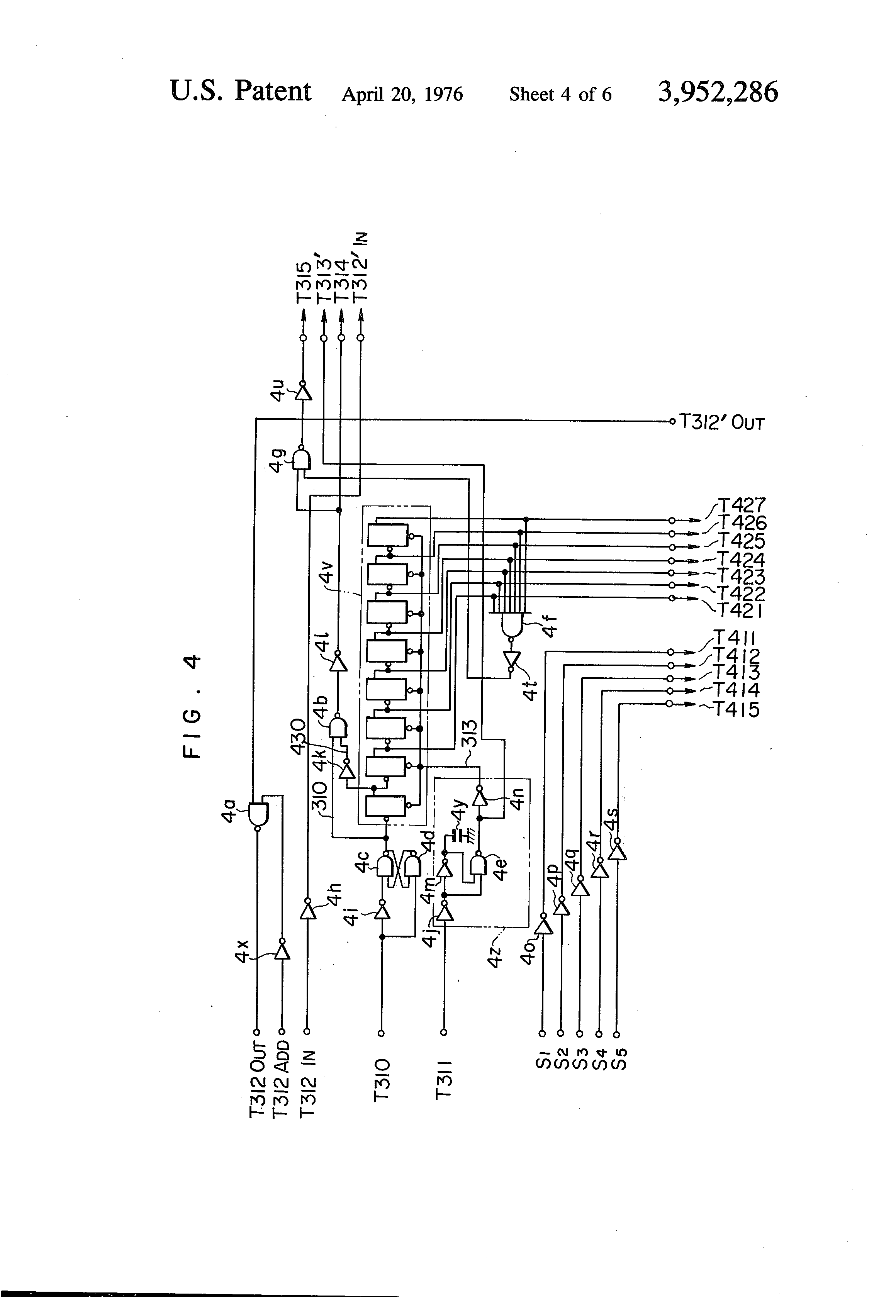 US3952286 4 patent us3952286 time multiplexed electric wiring system for ttr 225 wiring diagram at bayanpartner.co
