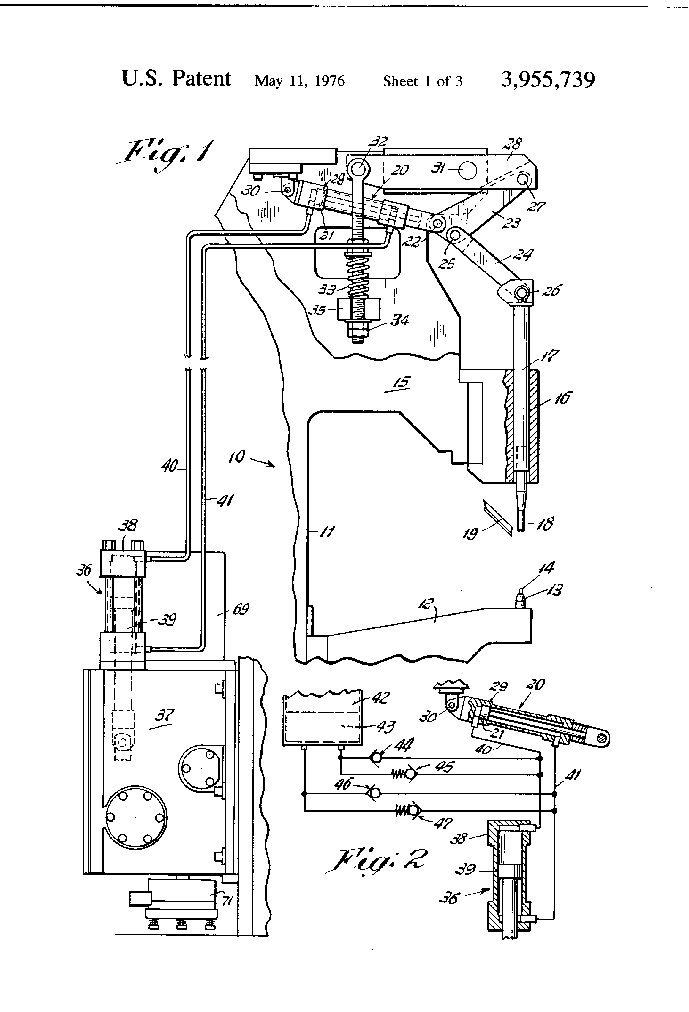 Patent Us3955739 Hydraulically Operated Riveting Machine Google Piston Delay Circuit Using Pistons Drawing