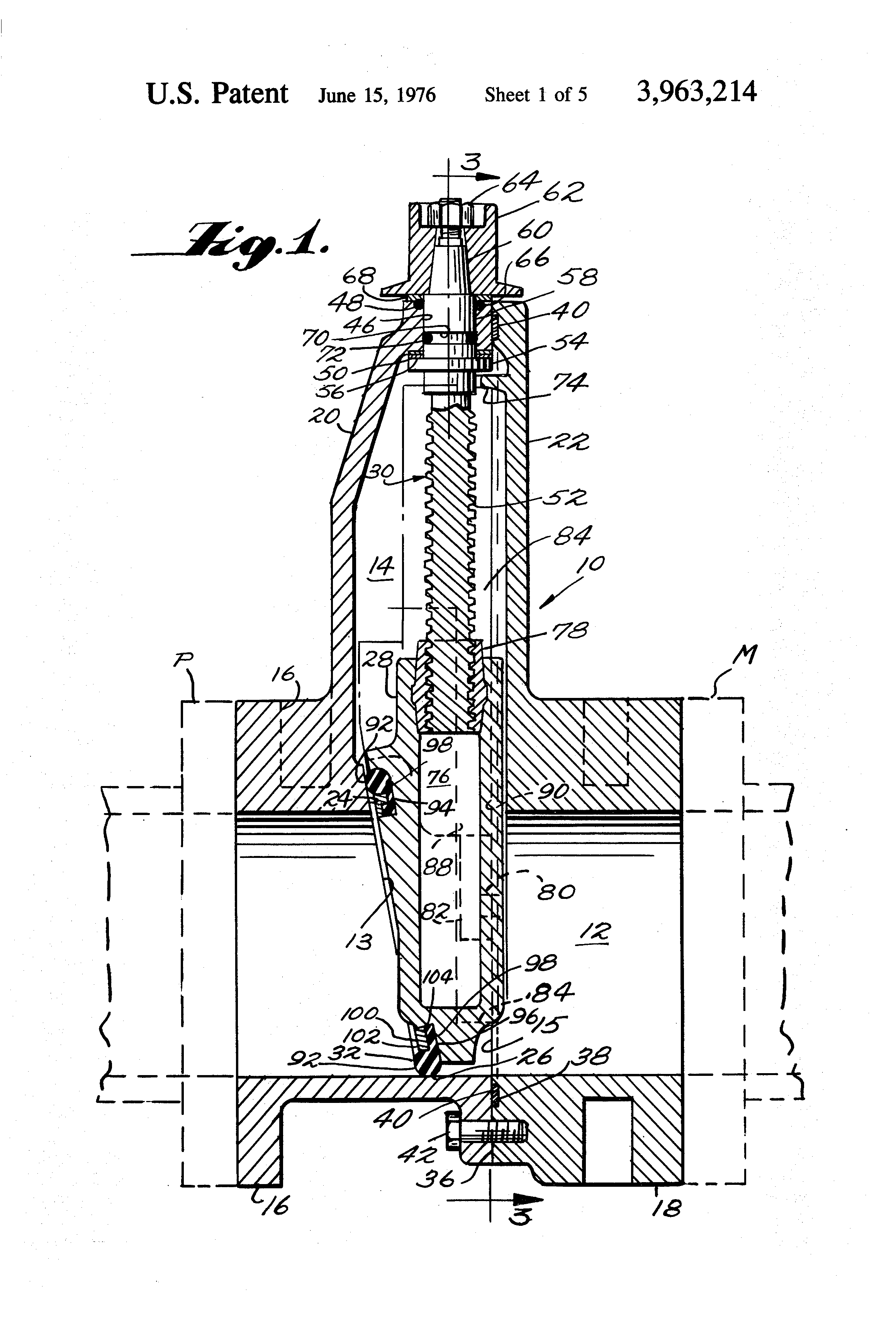 Patent Us3963214 Resilient Seated Gate Valve With Split Body