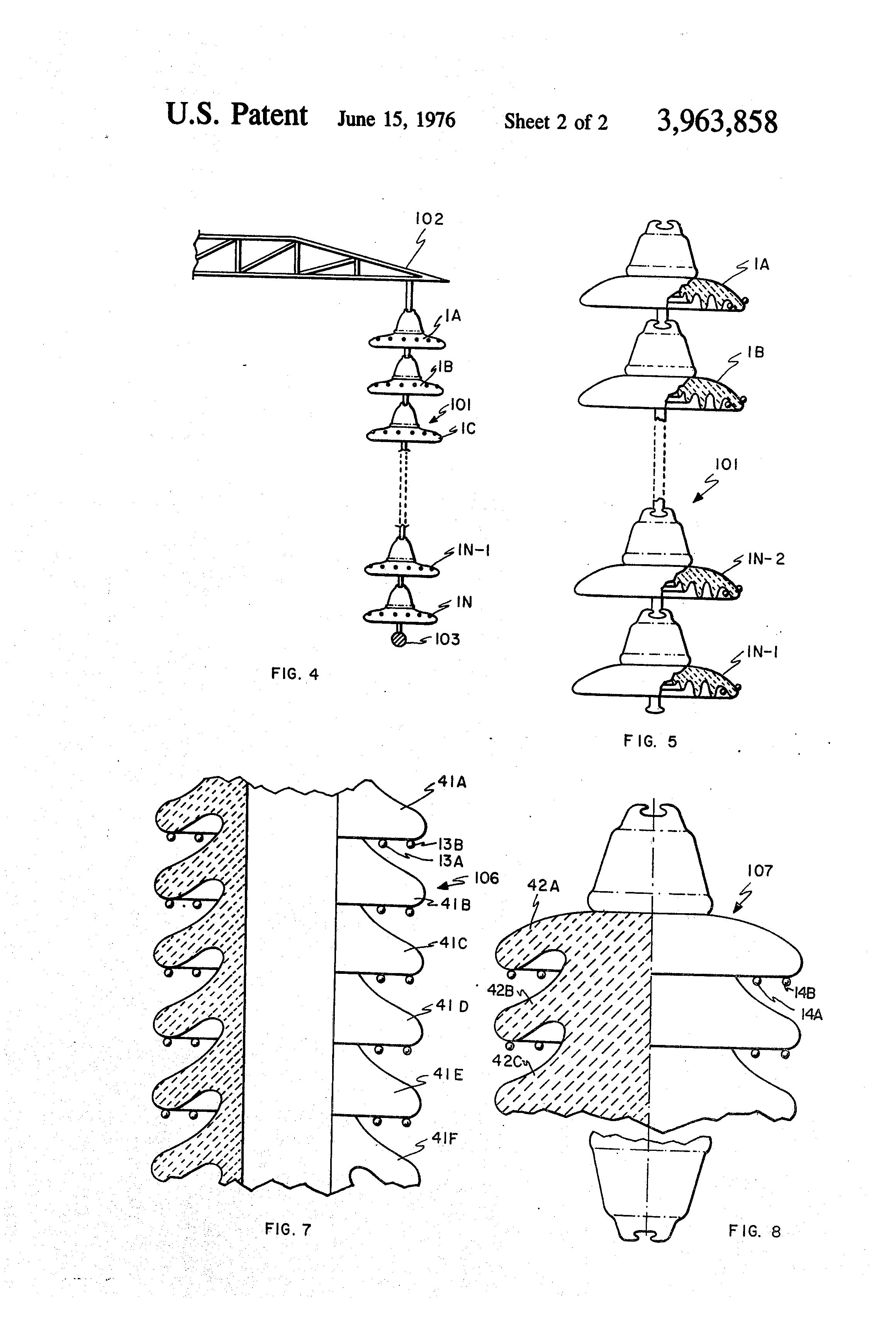 patent us3963858 - high-voltage electrical insulator adapted to prevent flashover
