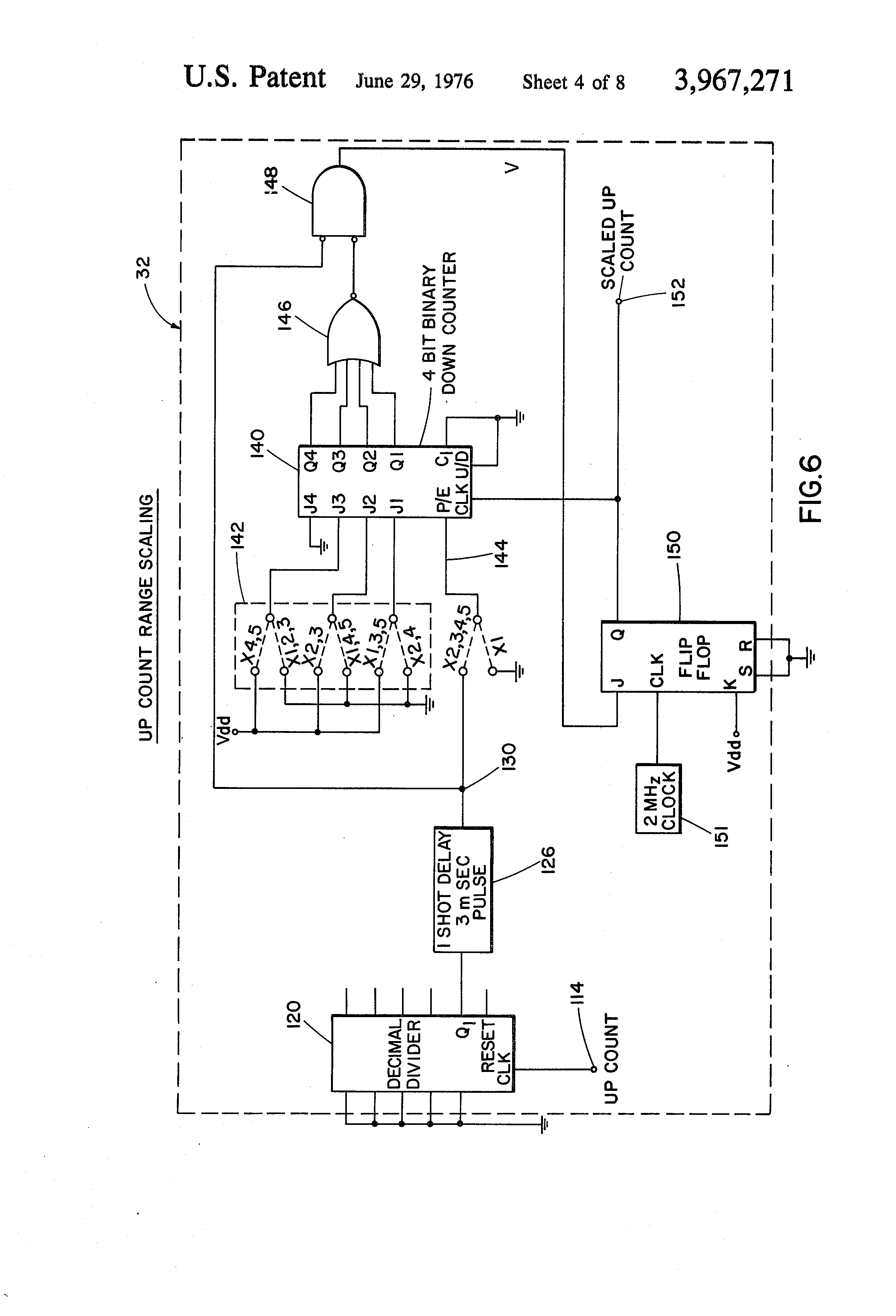 patent us3967271 - digital shaft encoder circuit for scales