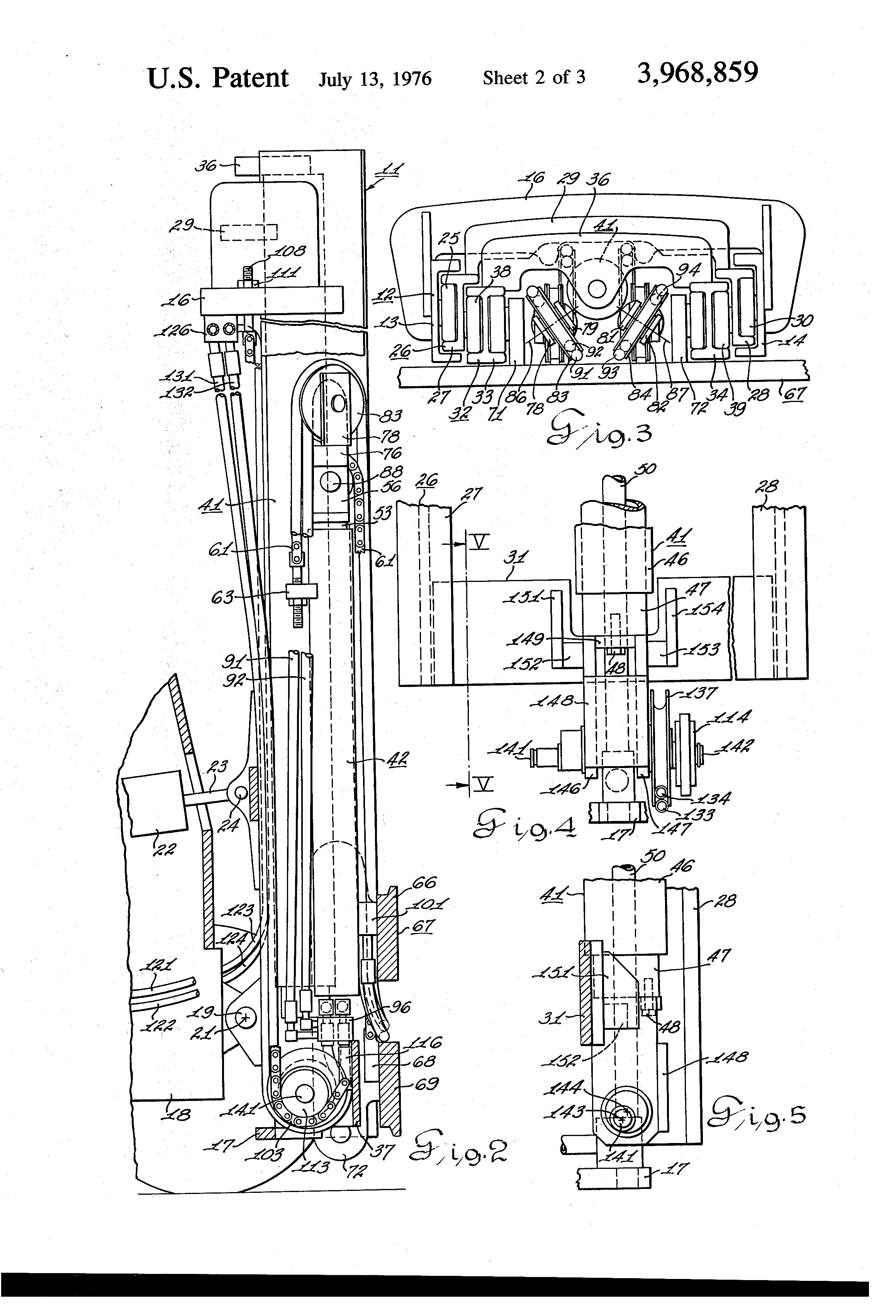 Patent Us3968859 Multiple Hose Guide Arrangement For A Lift Truck Toyota Forklift Hydraulic Diagram Drawing