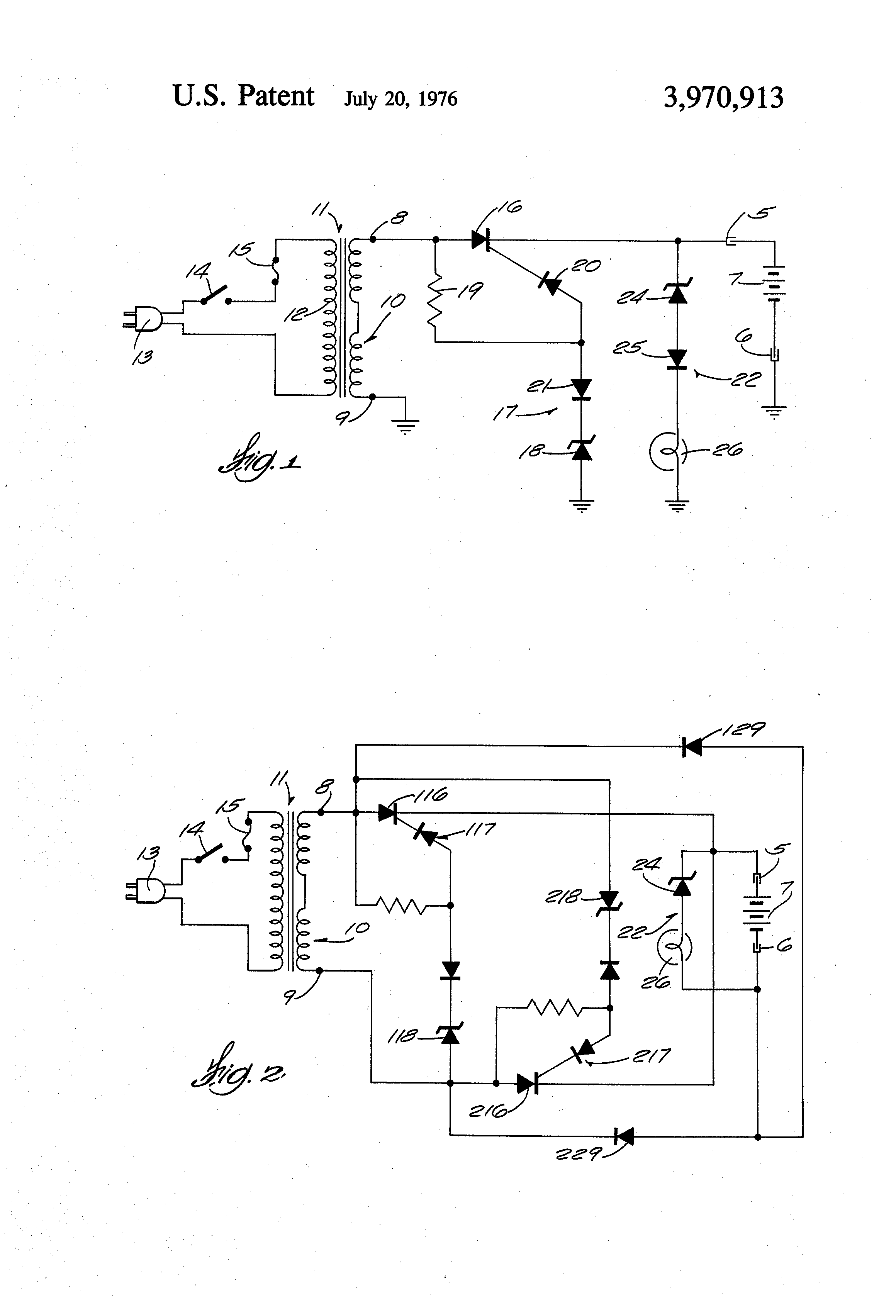 Brevet Us3970913 State Of Charge Indicator For Voltage Regulated Battery Patent Drawing
