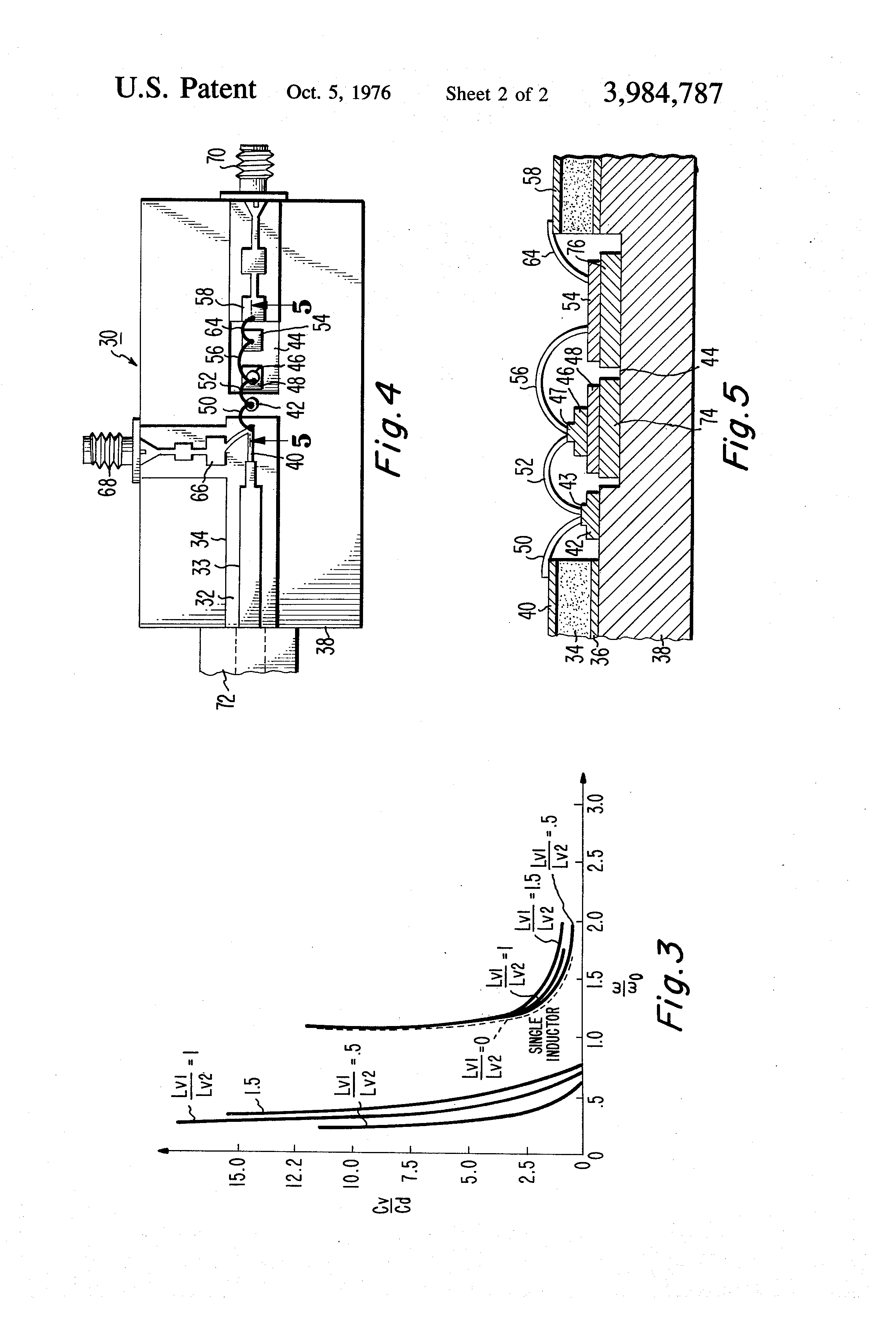 Patent Us3984787 Two Inductor Varactor Tunable Solid State Electriccircuit Reactance And Impedance Capacitive Drawing