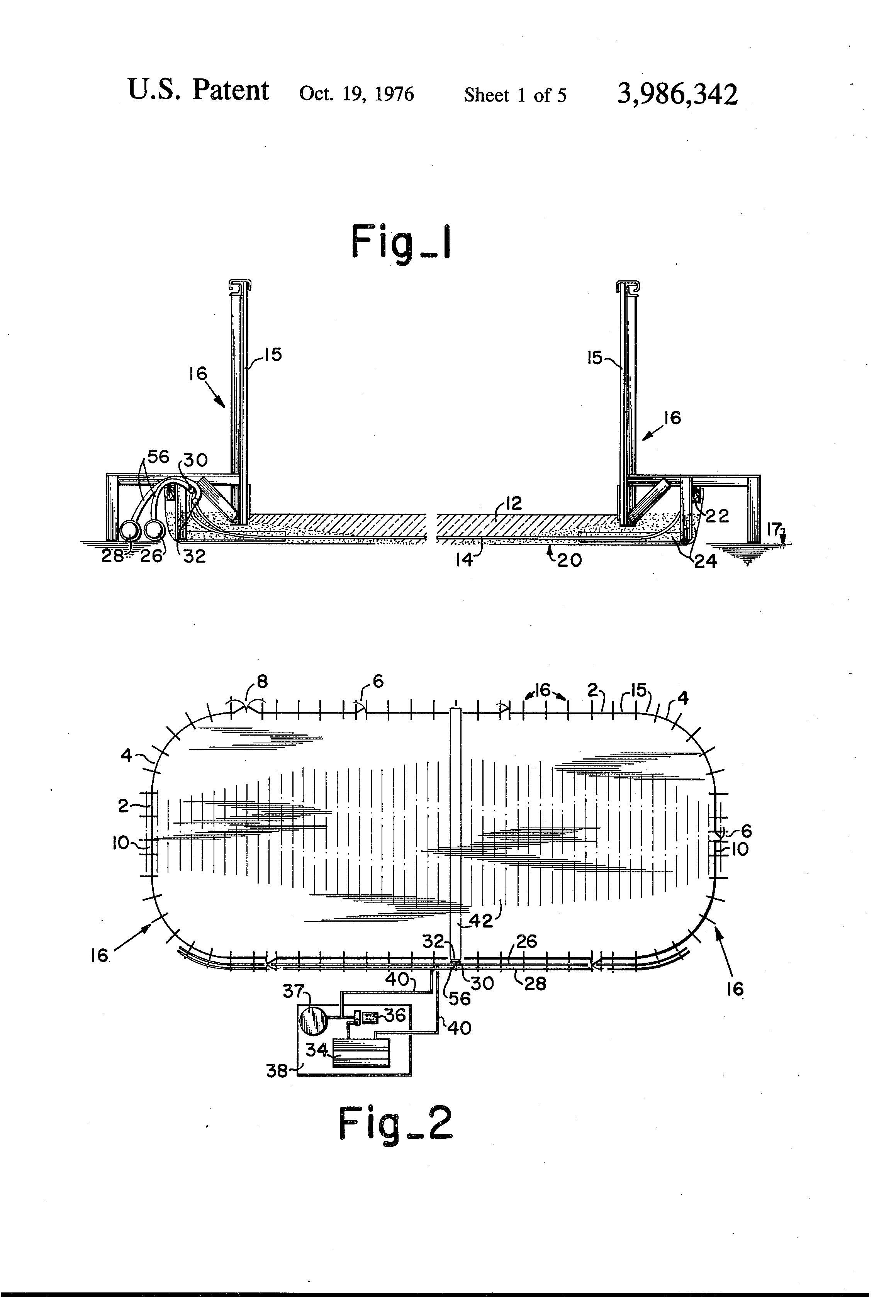 patent us3986342 method of securing a perimeter fence around an