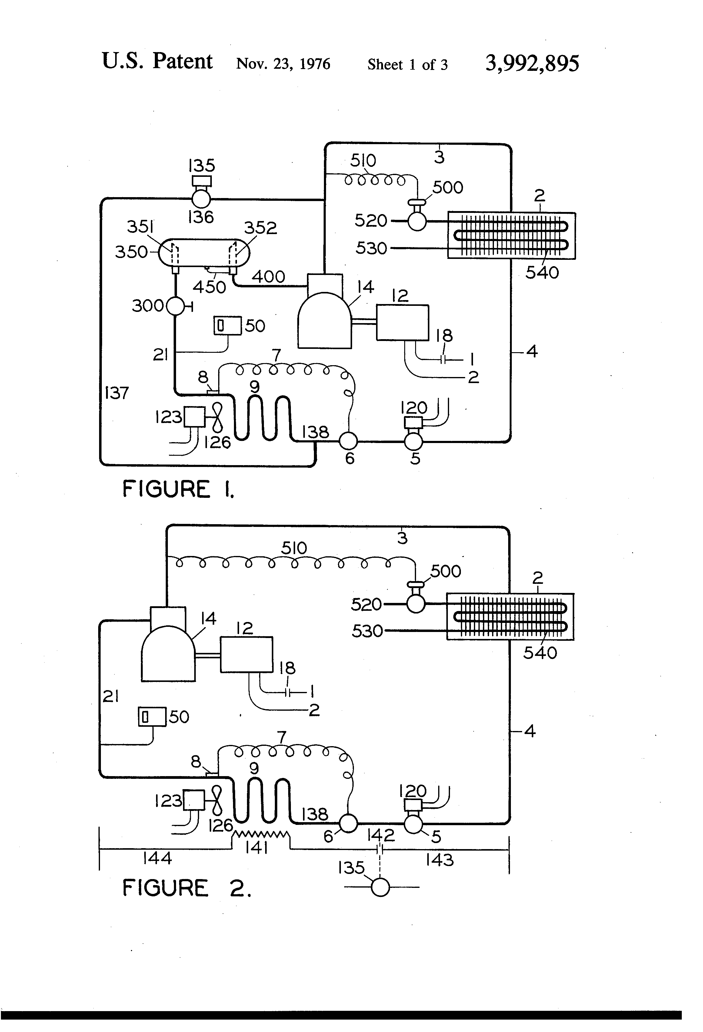 US3992895 1 patent us3992895 defrost controls for refrigeration systems defrost termination switch wiring diagram at fashall.co