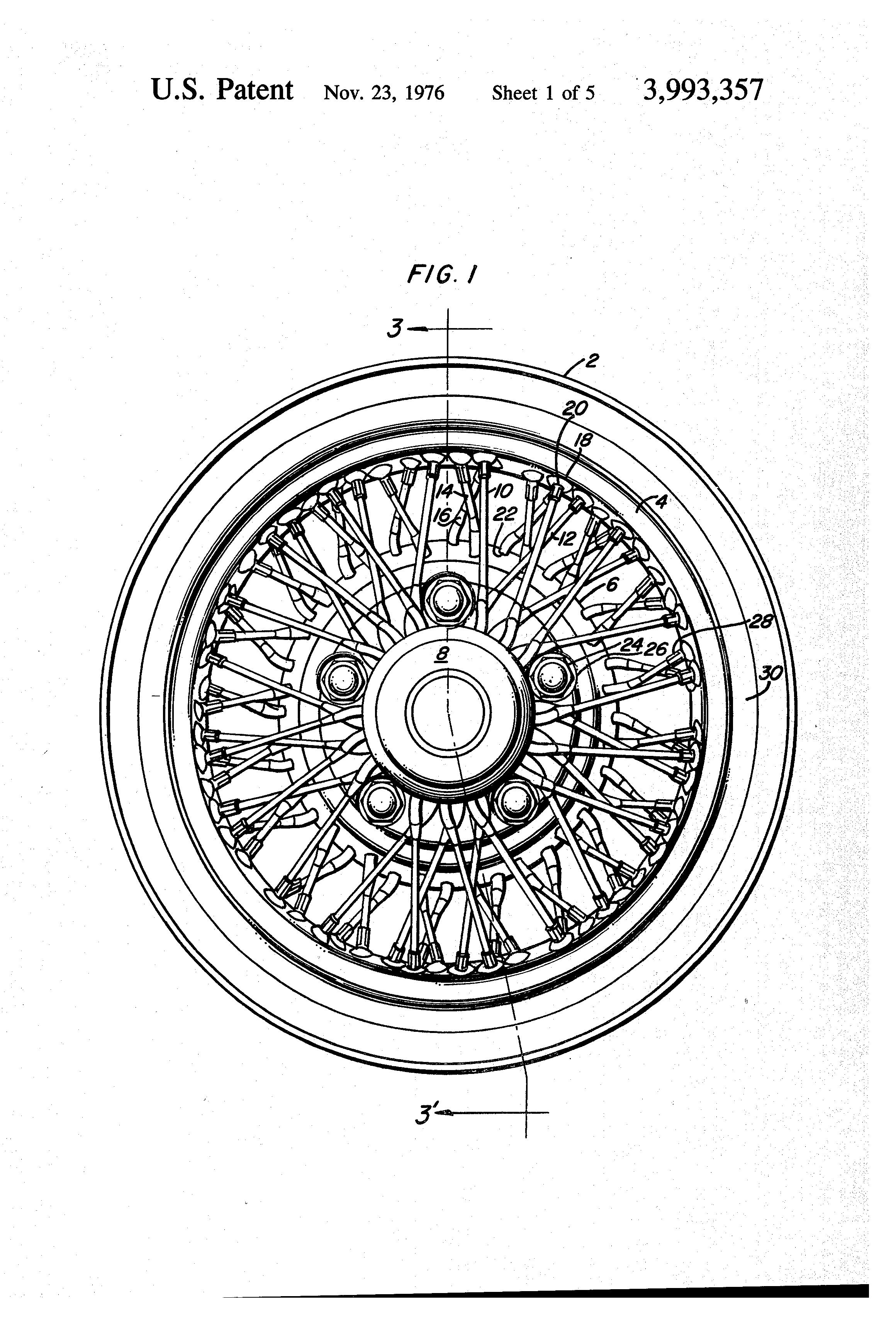 brougham wire spoke wheel used rim wear pitting cadillac
