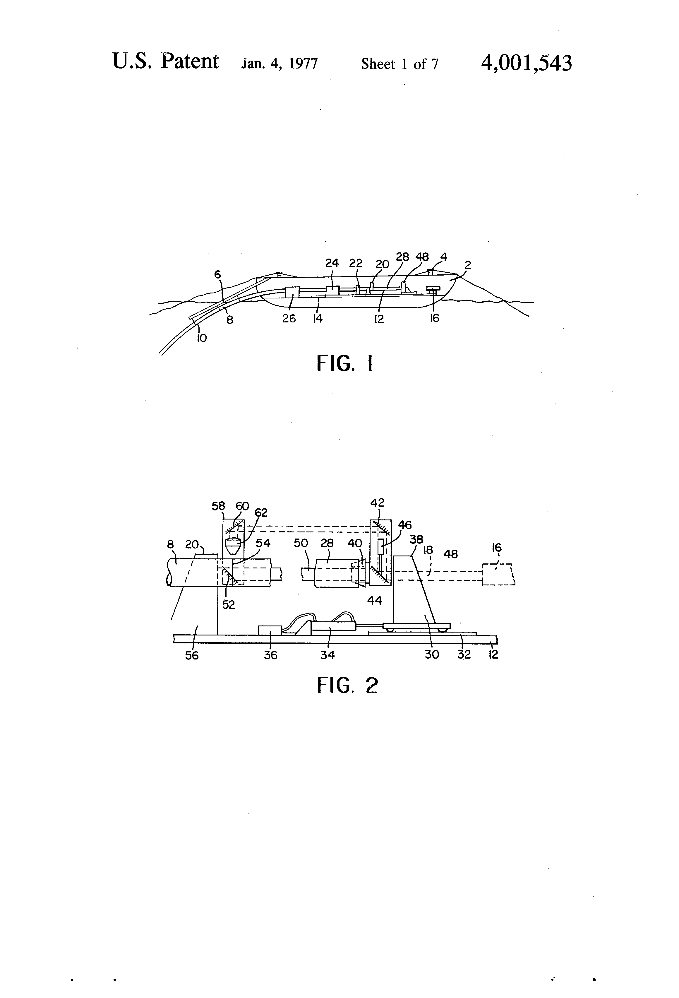 Patent Us4001543 Apparatus For A Laser Welding Of Pipeline Diagram Drawing