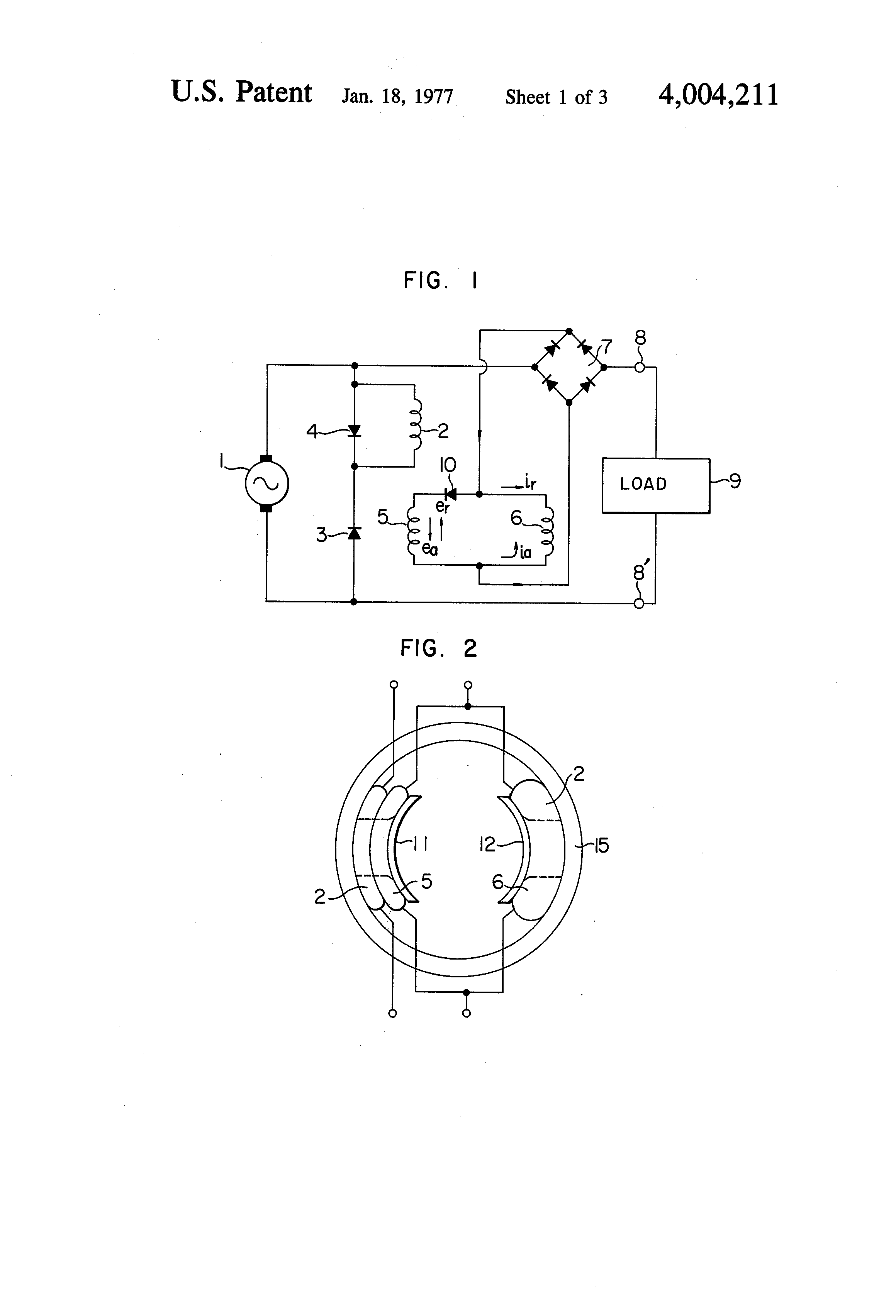 US4004211 1 patent us4004211 compound ac generator google patents mecc alte alternators wiring diagram at gsmportal.co