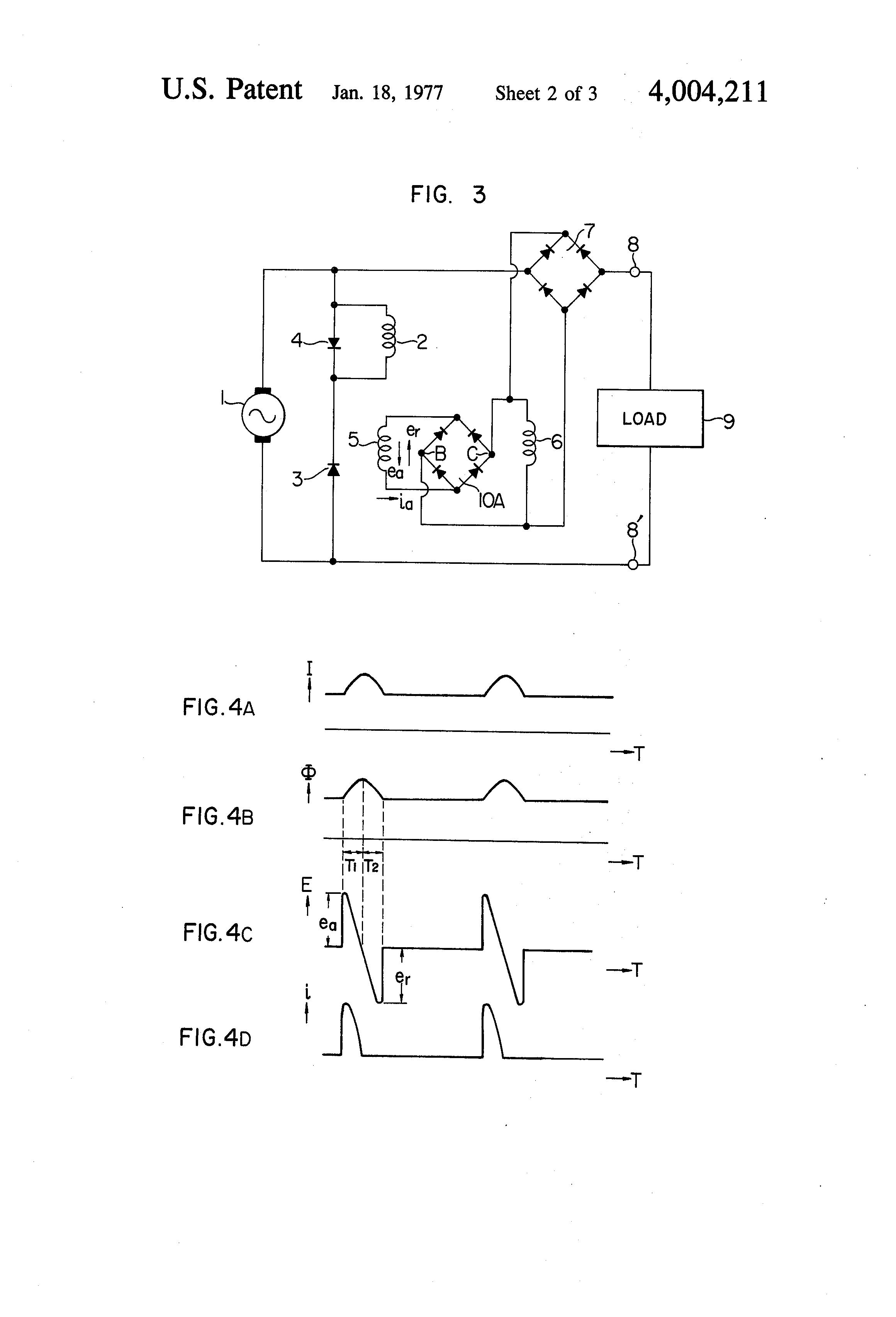 patent us4004211 compound ac generator google patents patent drawing