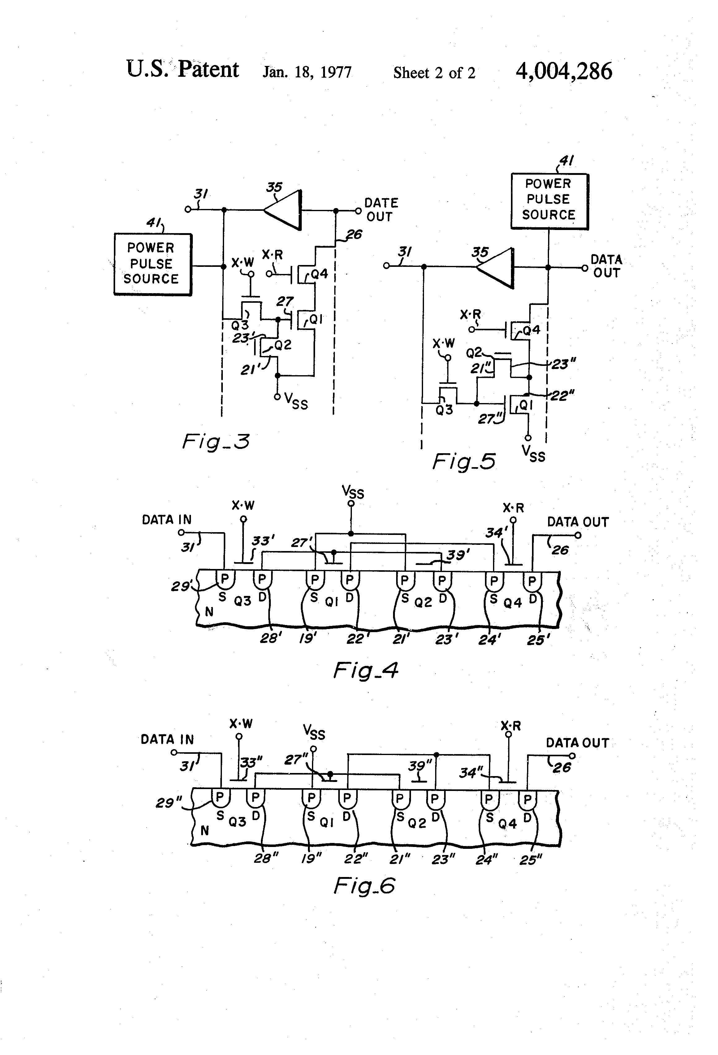 Brevet Us4004286 Programmable Random Access Memory Pram Integrated Circuit Popular Patent Drawing