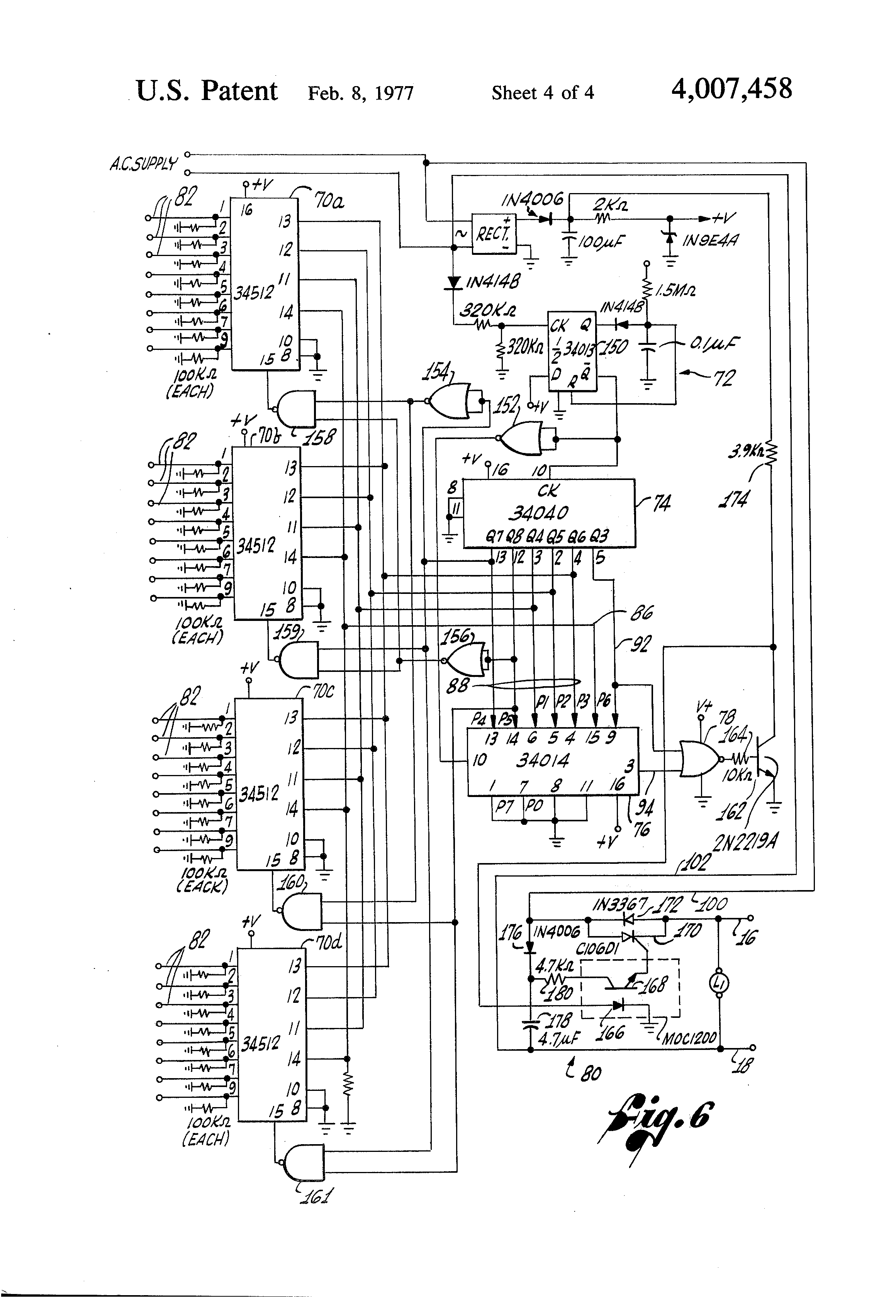 US4007458 4 patent us4007458 digital two wire irrigation control system Rain Bird 24VAC Wiring Diagrams at edmiracle.co