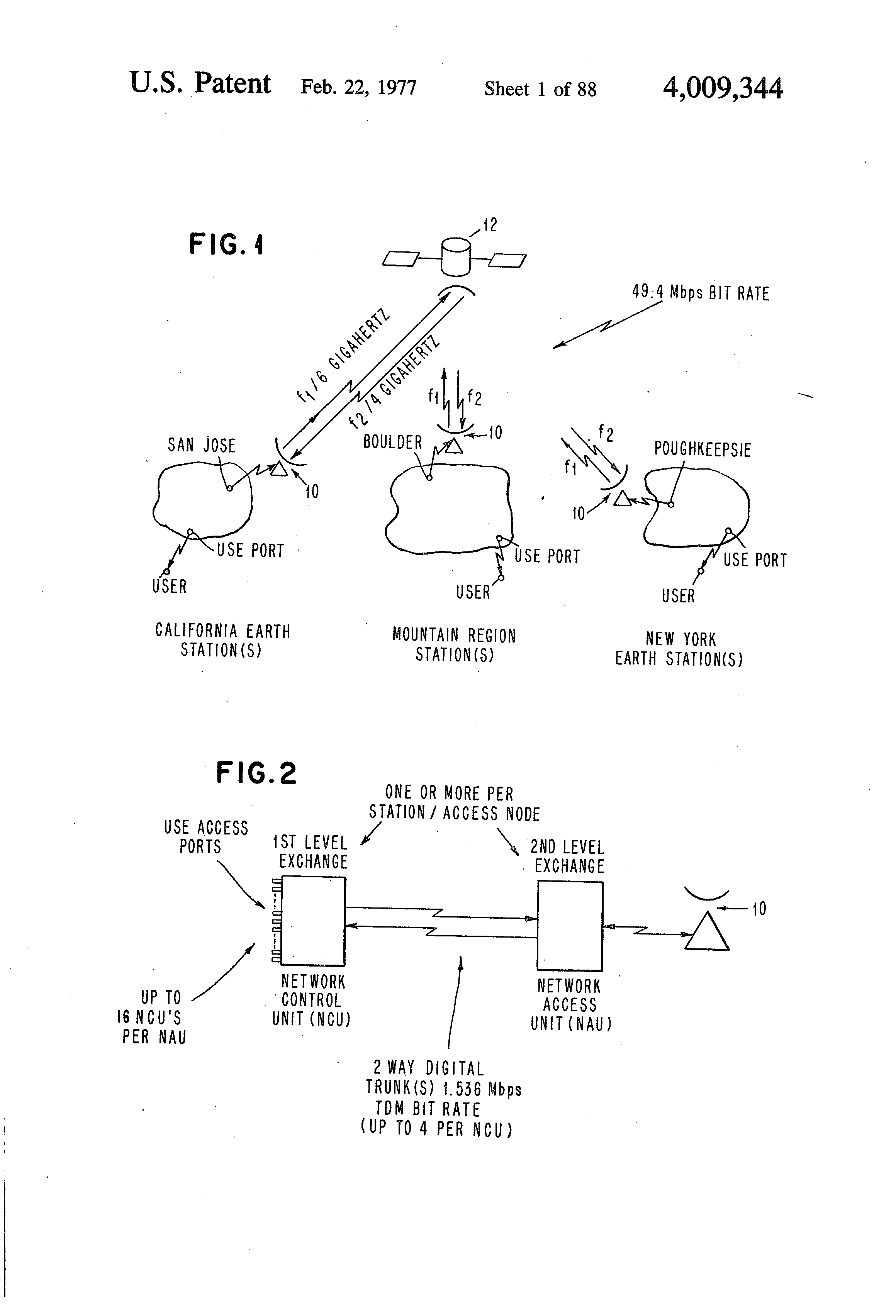 Patent Us4009344 Inter Related Switching Activity Compression And Electrical Engineering Progression Plan Nau Drawing