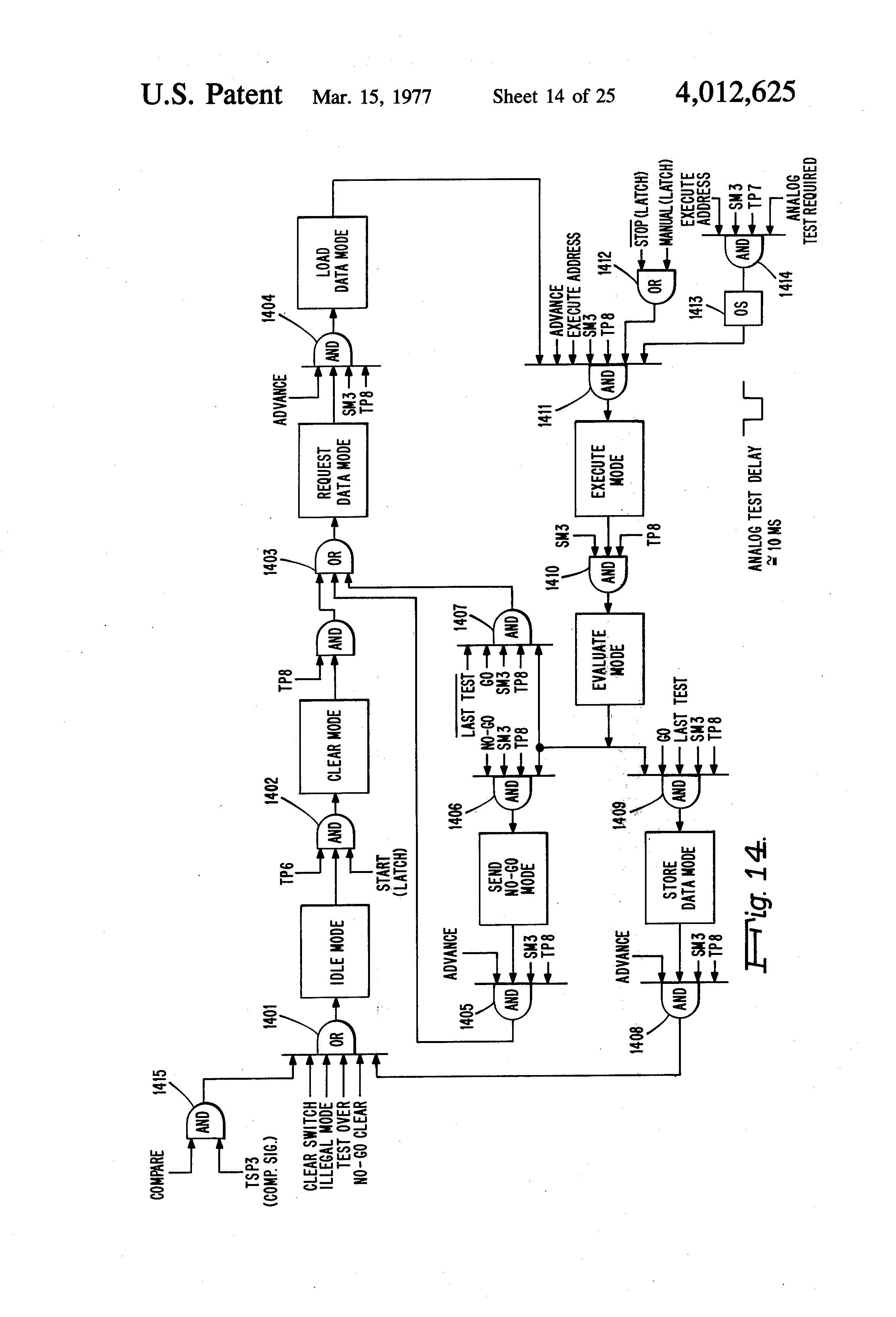 Patent Us4012625 Non Logic Printed Wiring Board Test System Latching Circuits Schematic Picture Drawing