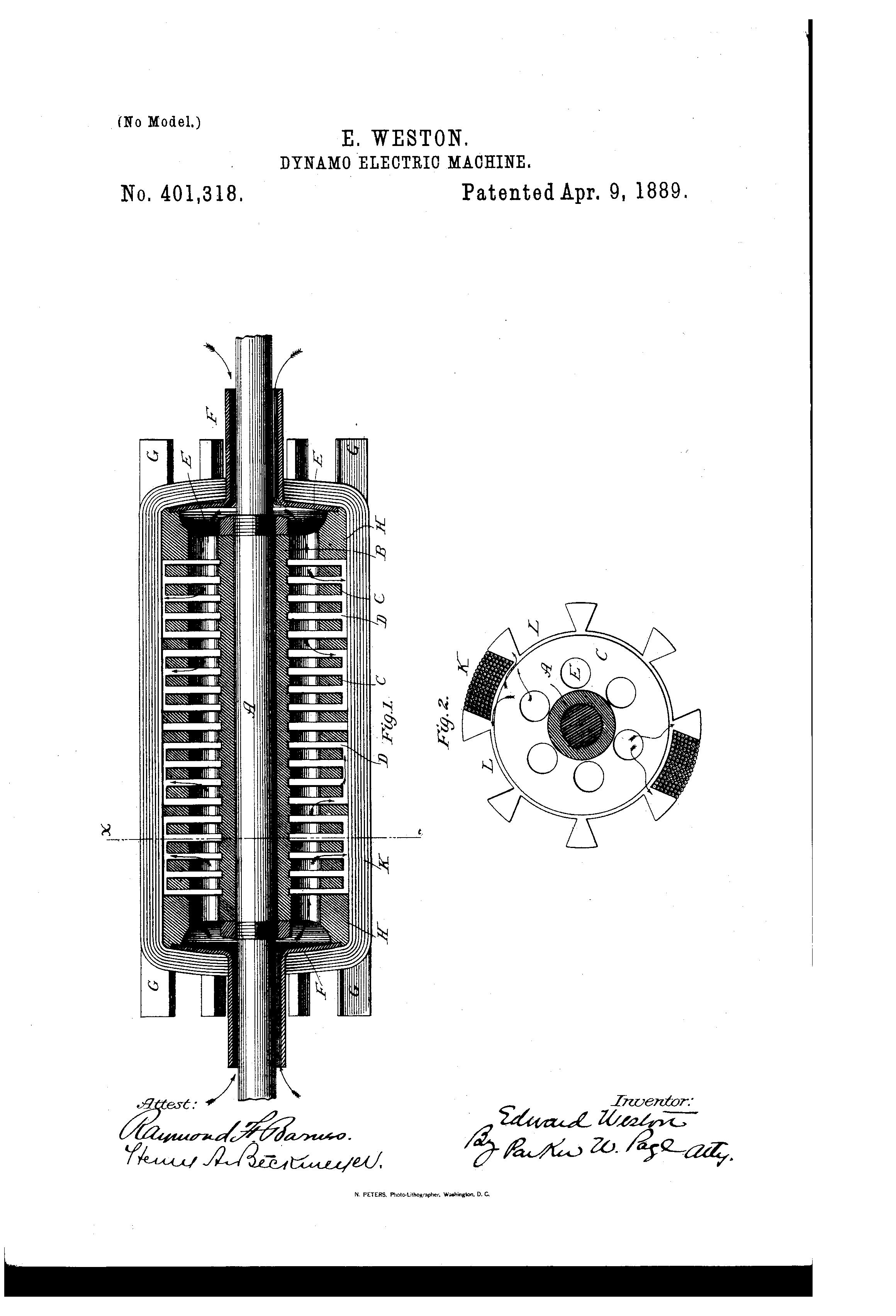 Patent Us401318 Edward Weston Google Patents Wiring Diagram Drawing