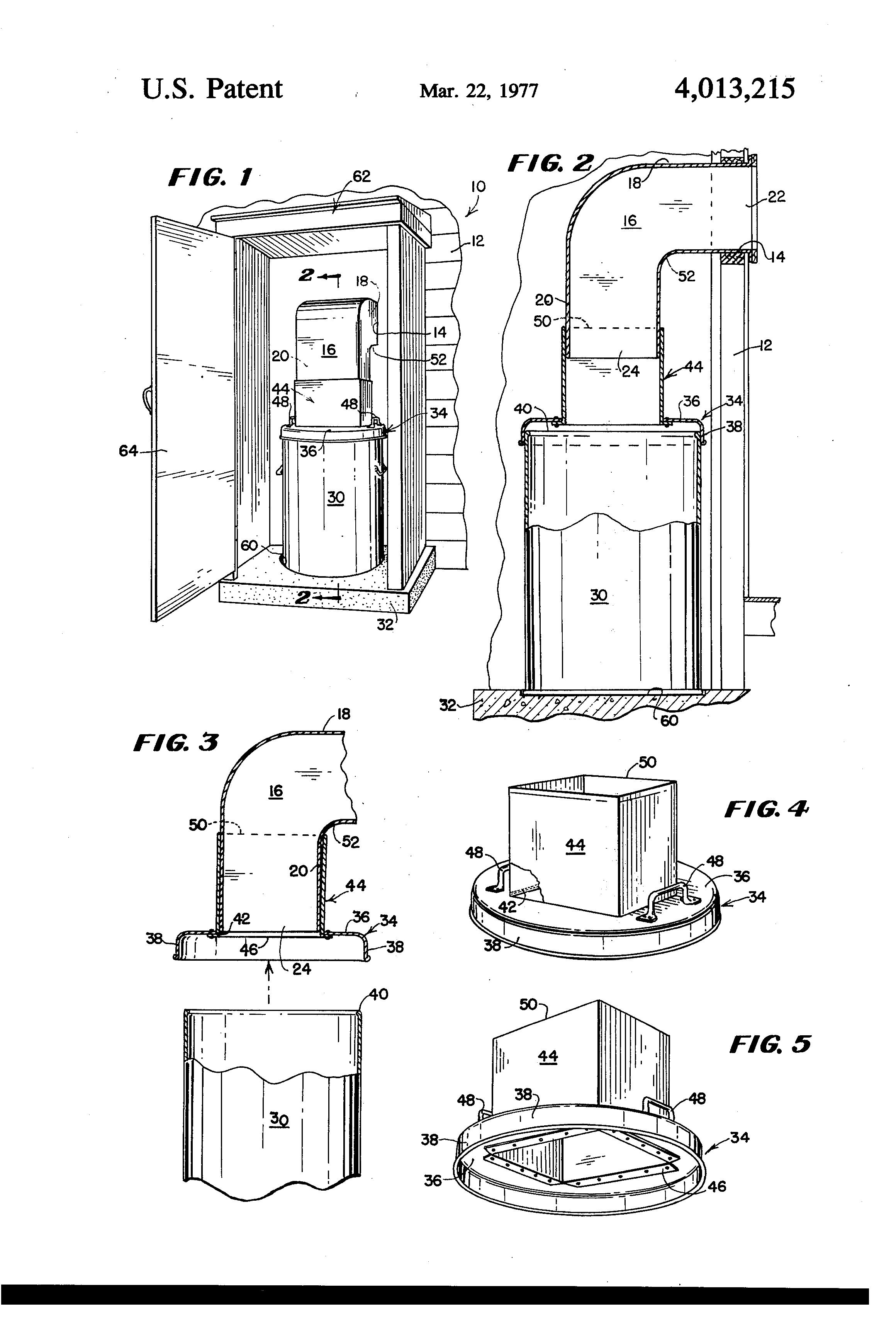 Trash Chute Details : Patent us trash disposal apparatus google patenten