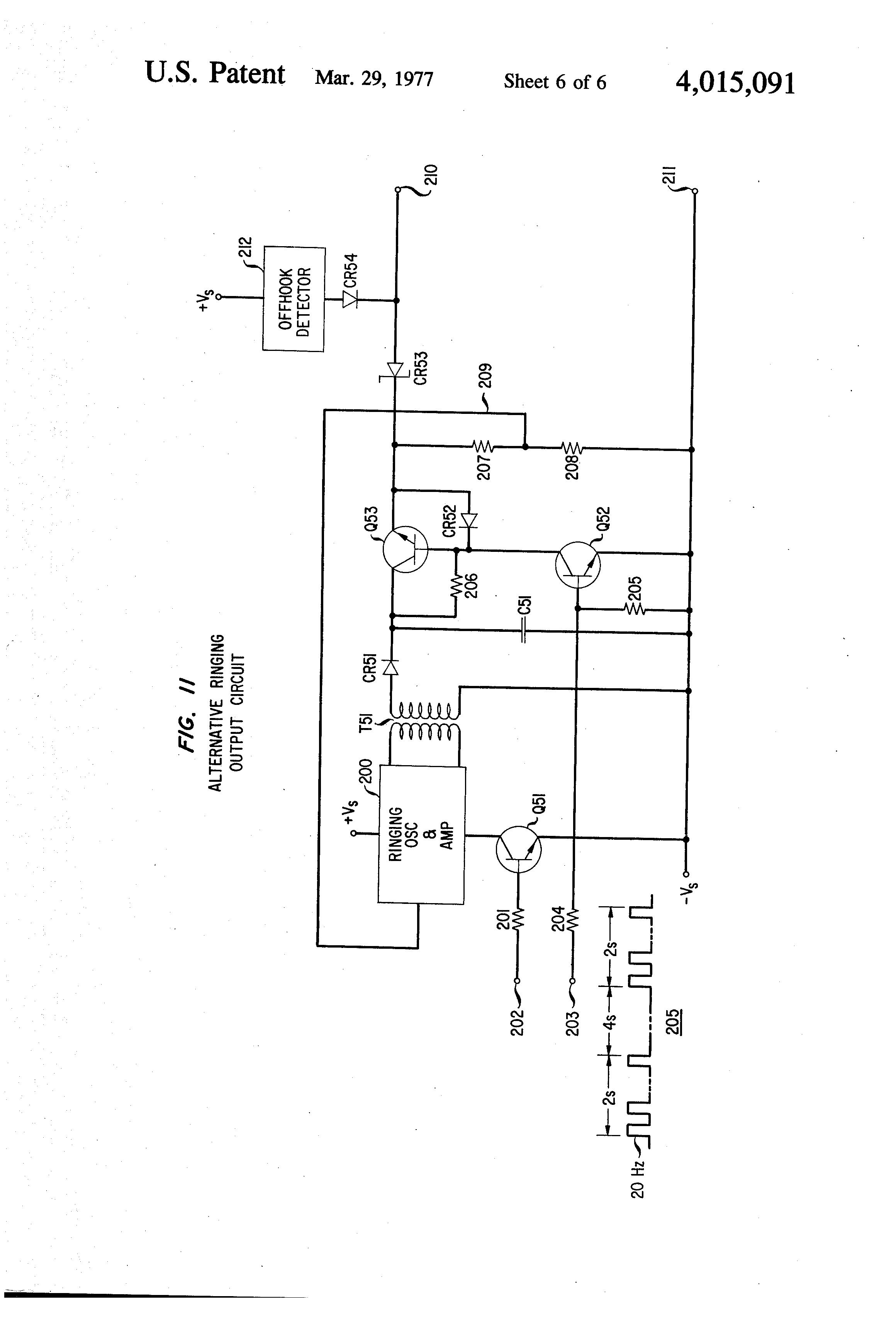 patent us4015091 - telephone ringing generators