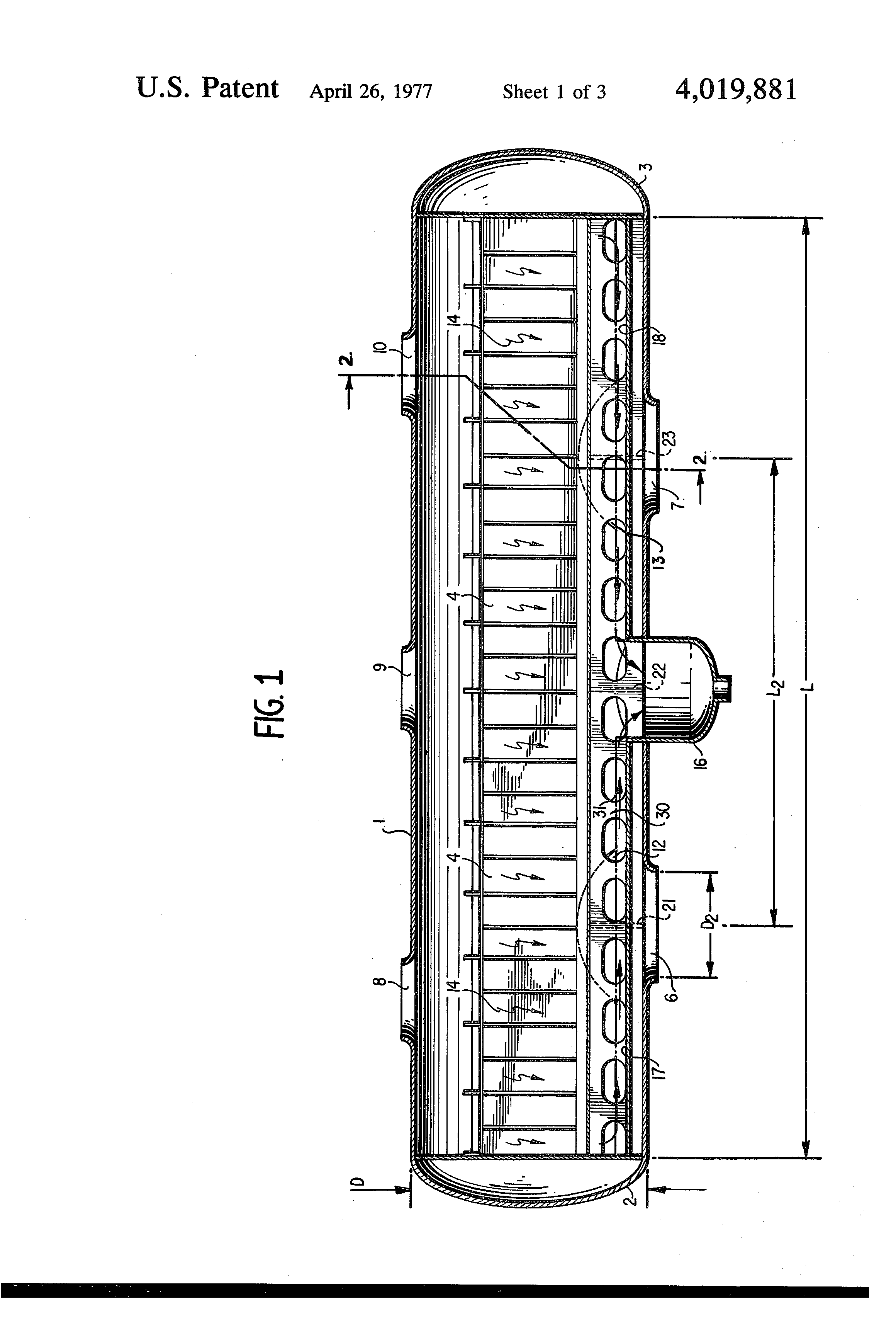 Patent US Moisture separator for a nuclear steam turbine