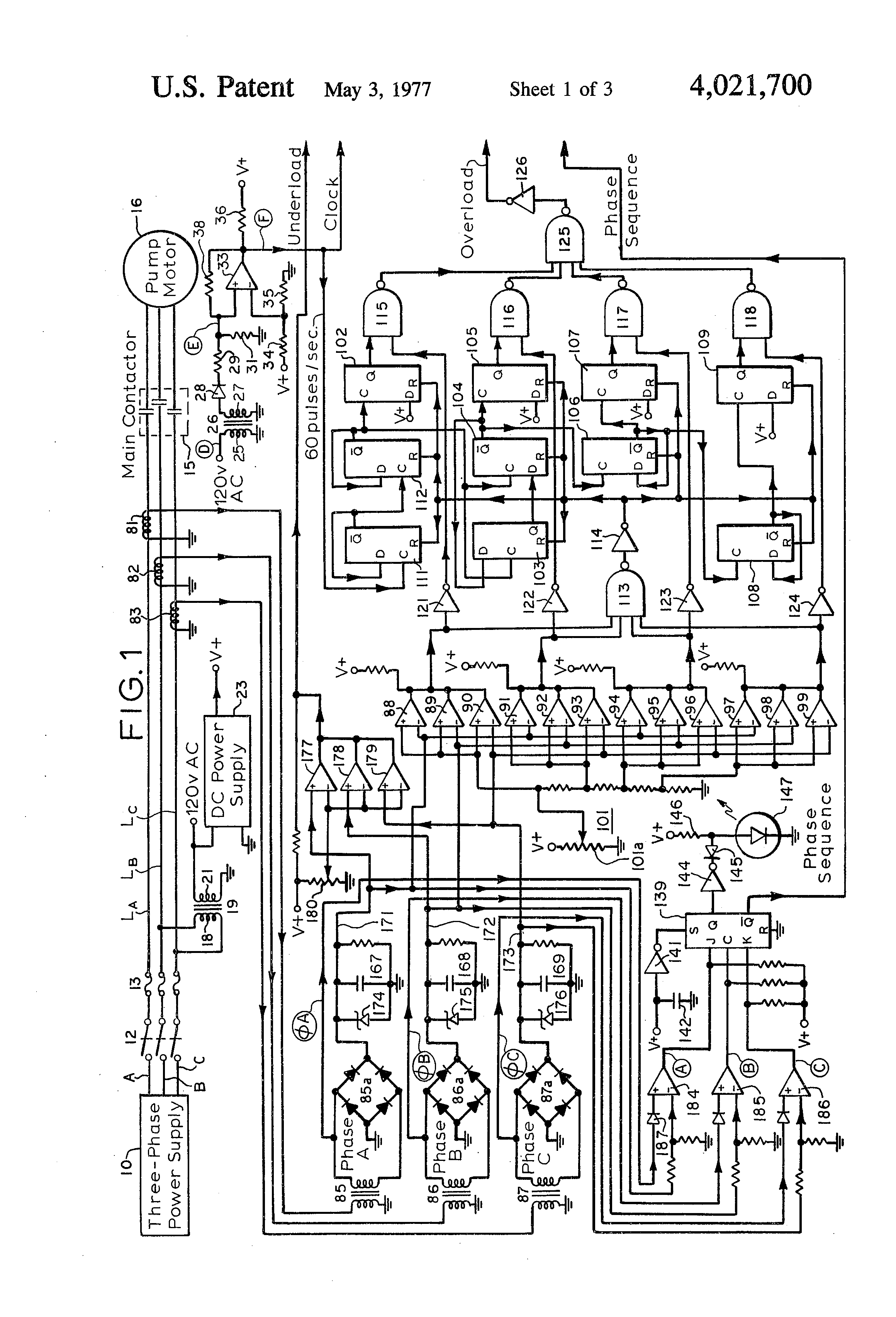 Patent US4021700 - Digital logic control system for three-phase ...